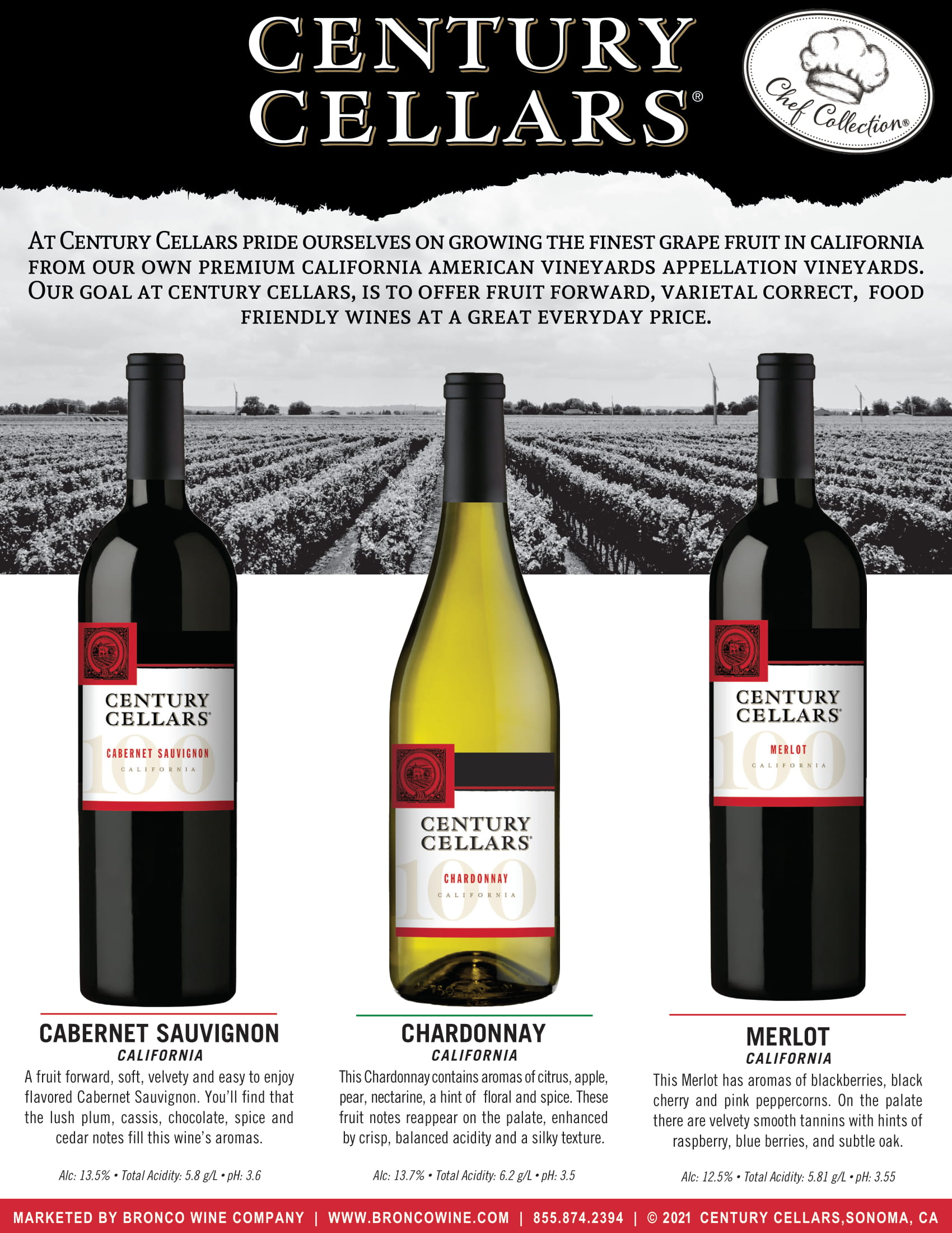 Century Cellars Chefs Collection Sell Sheet