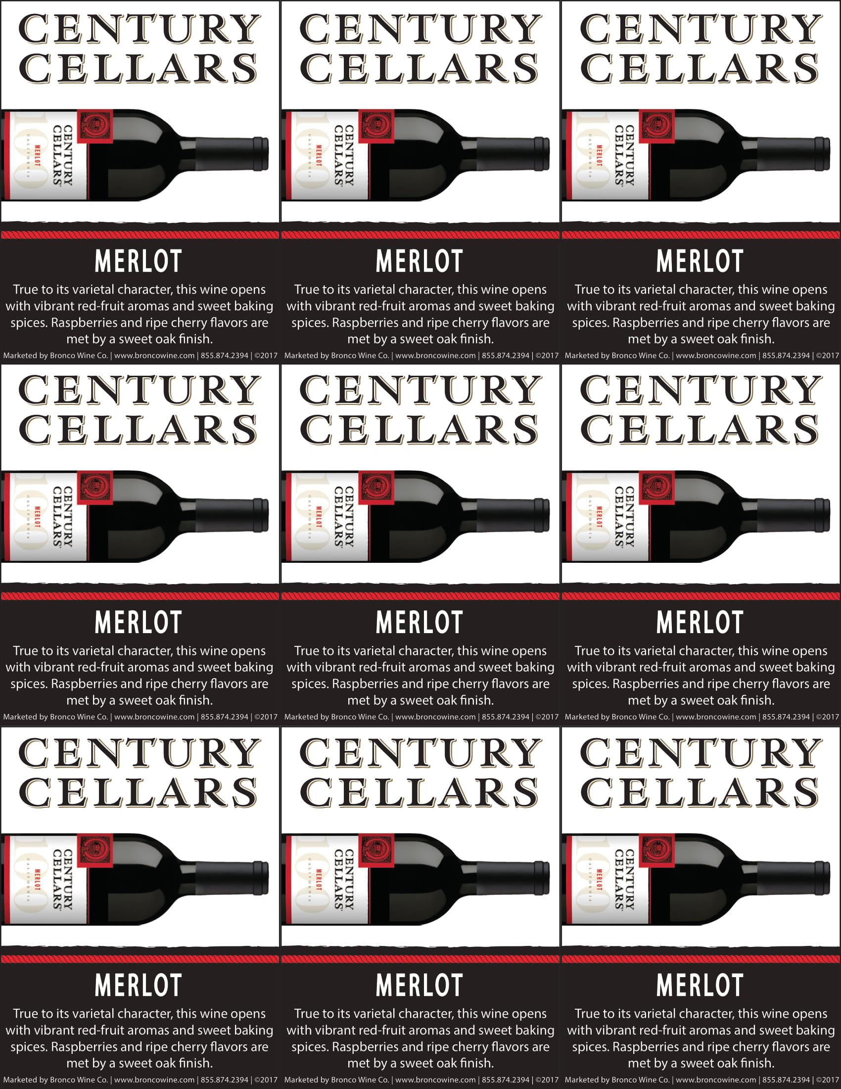 Century Cellars Merlot Shelf Talkers