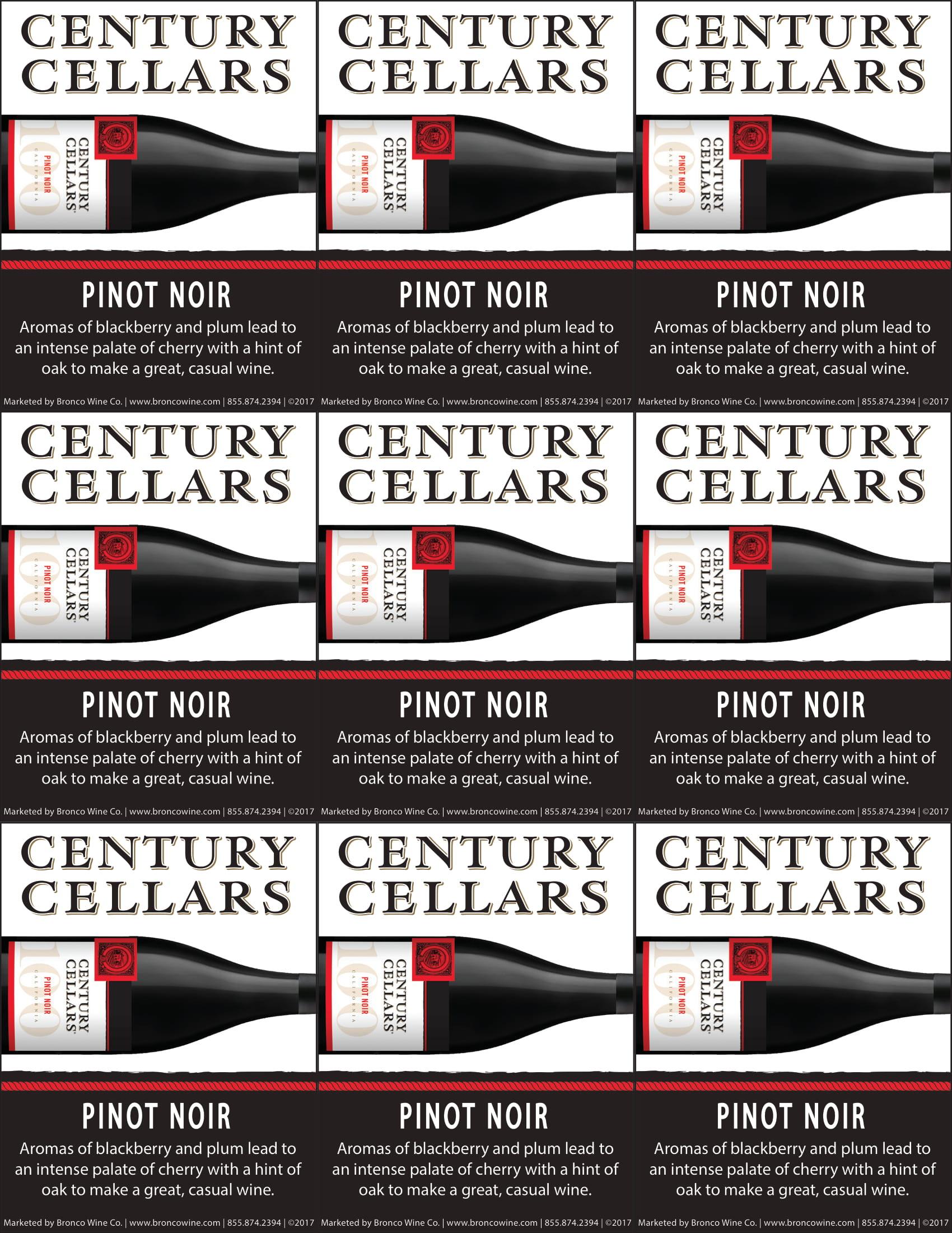 Century Cellars Pinot Noir Shelf Talkers