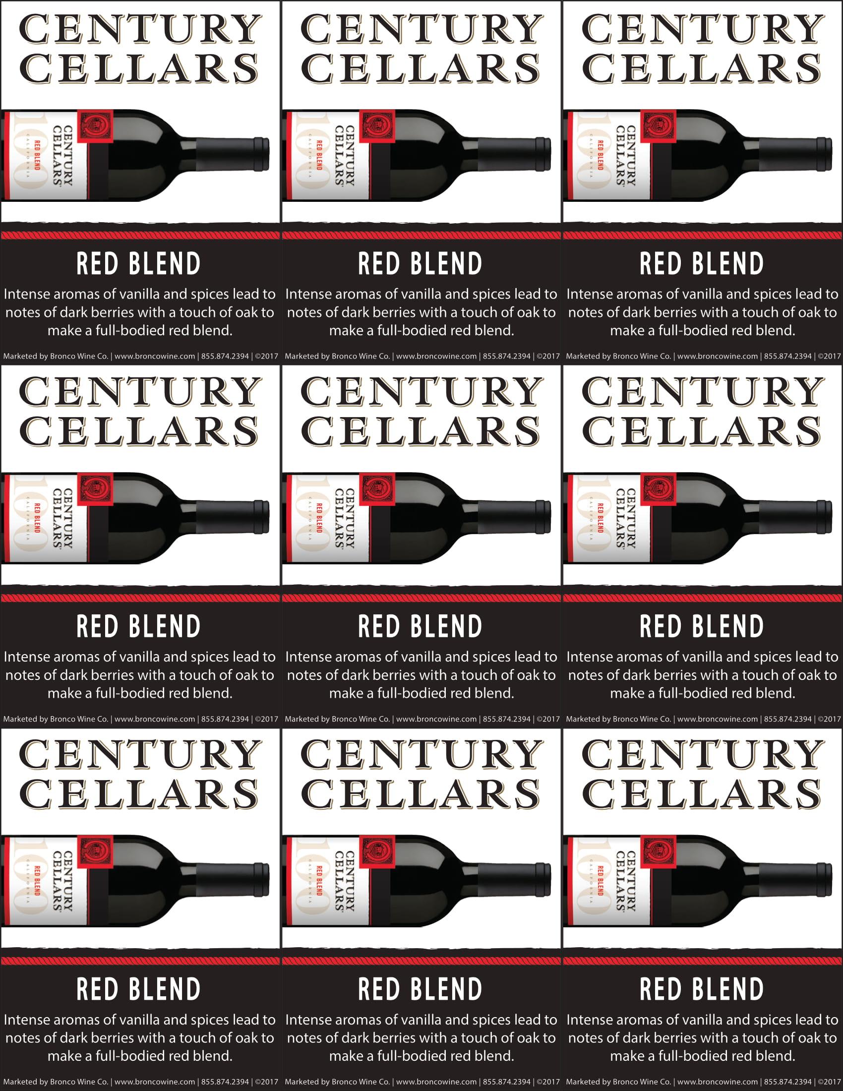 Century Cellars Red Blend Shelf Talkers