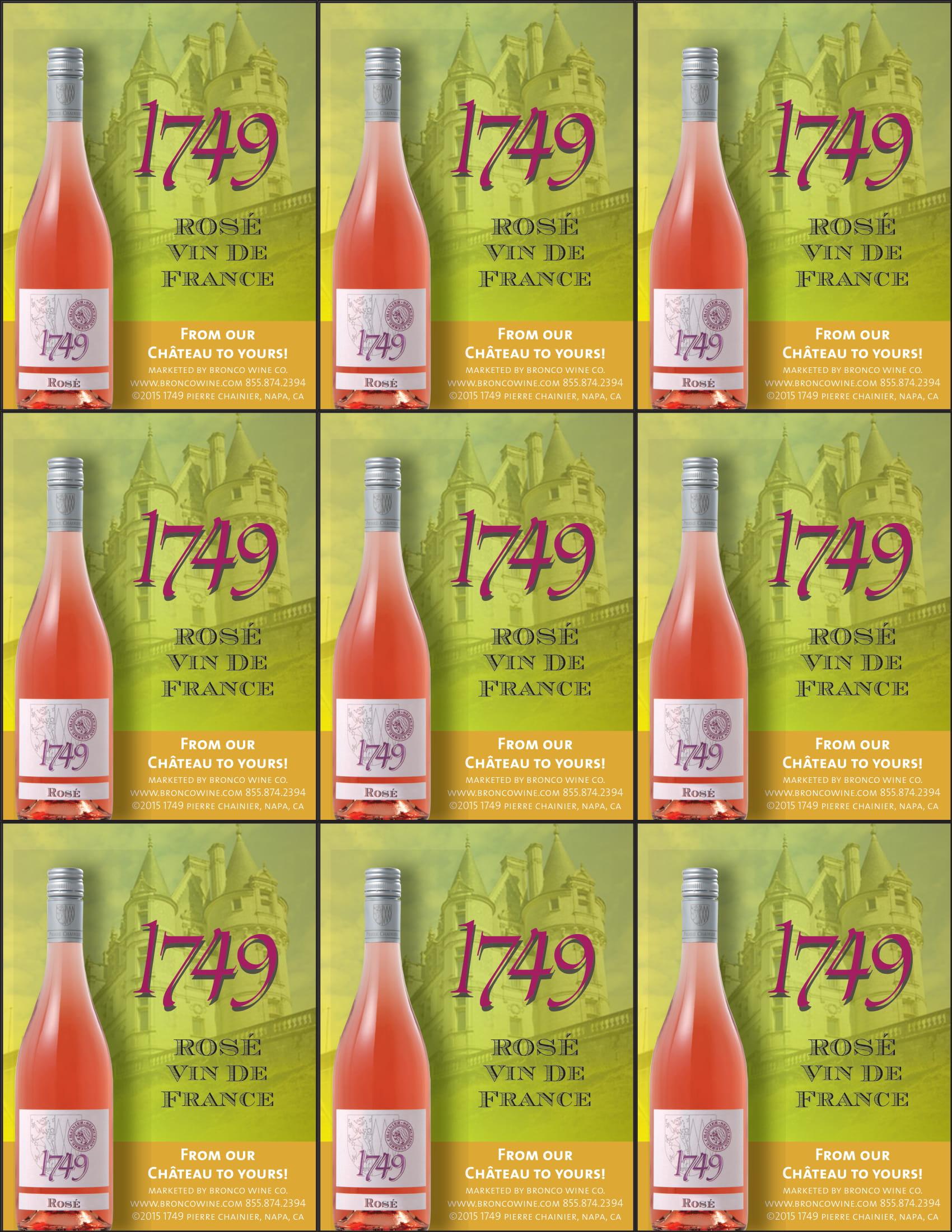 1749 Rosé Shelf Talkers