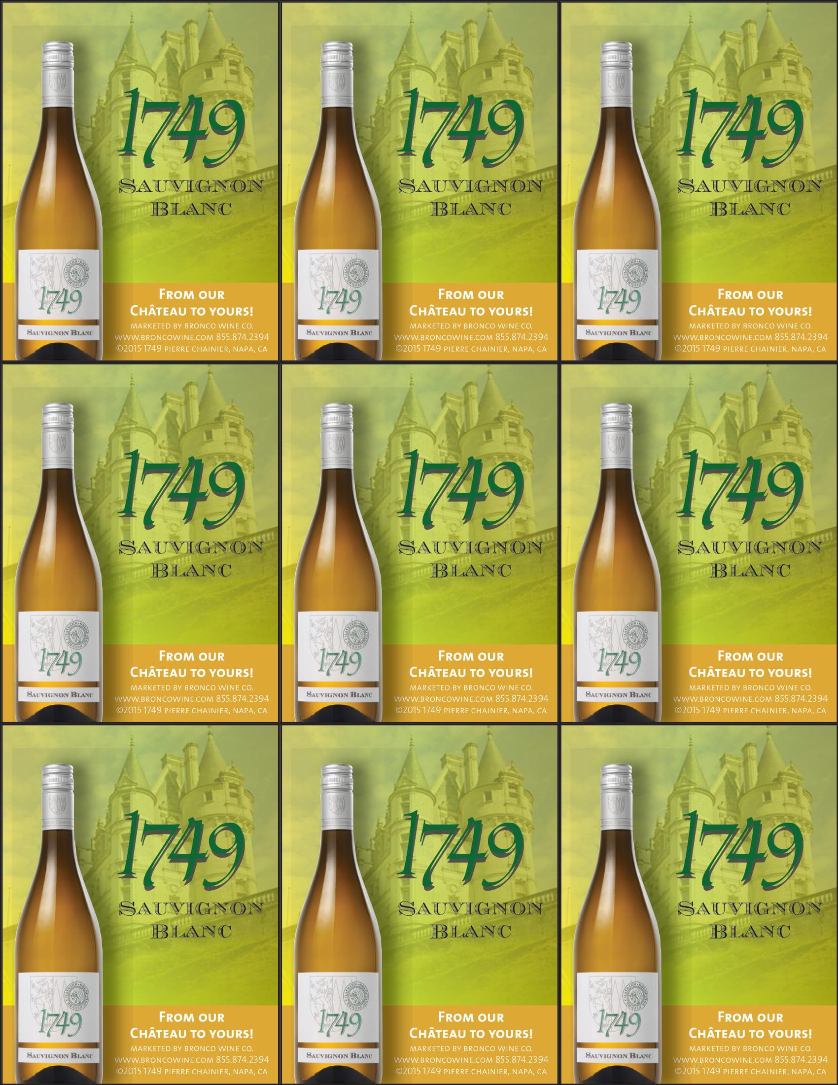 1749 Sauvignon Blanc Shelf Talkers