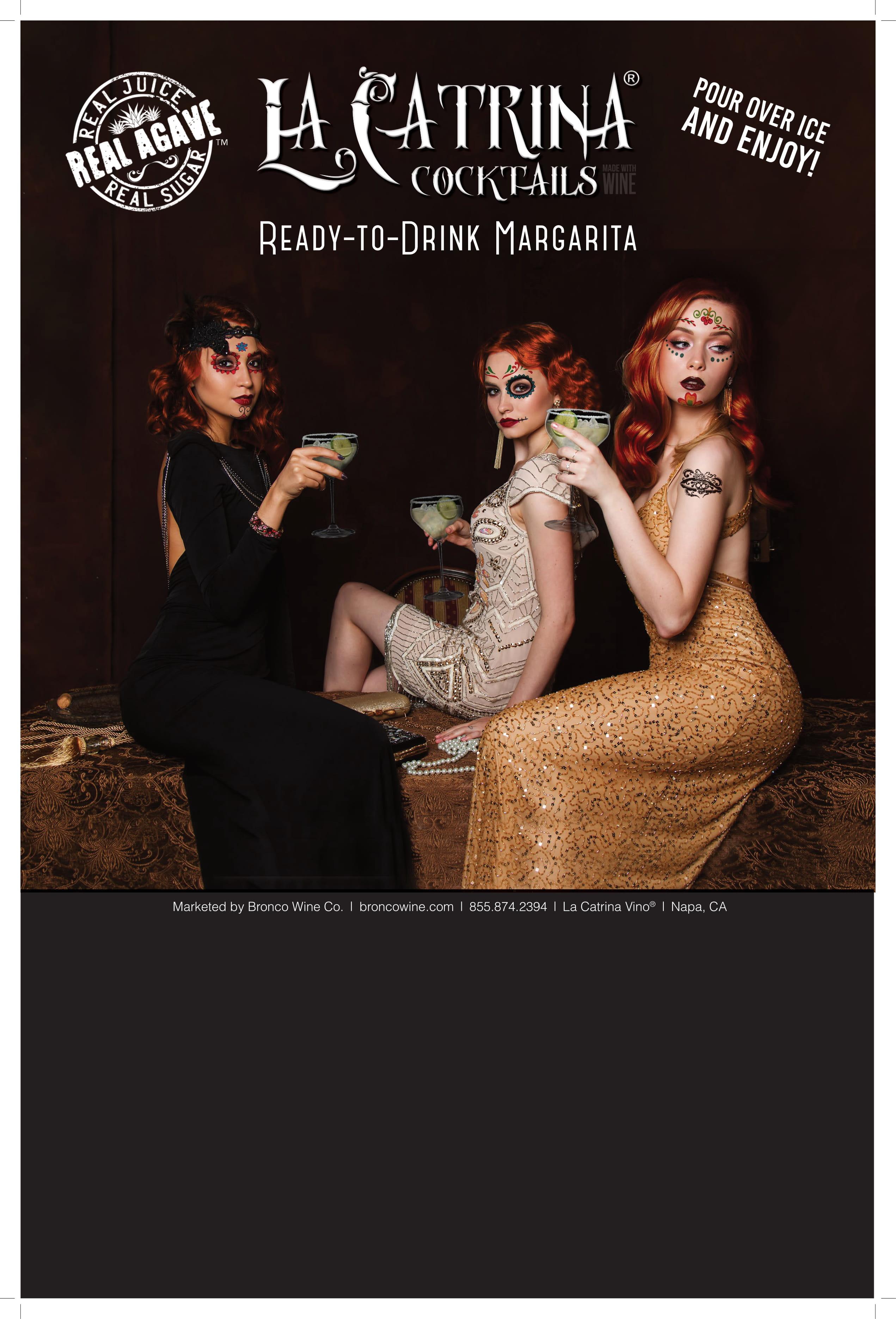 La Catrina Cocktails Case Cards