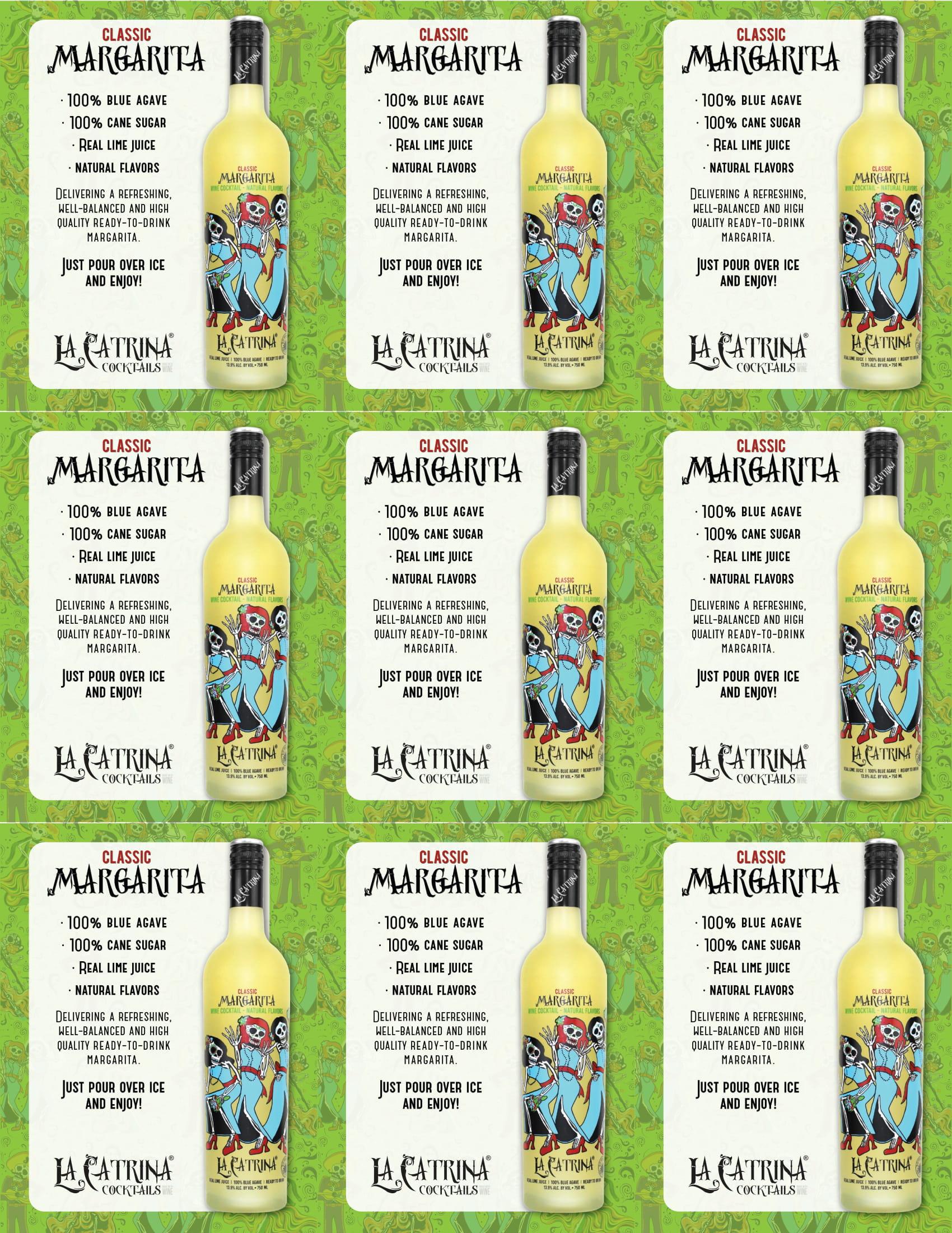 La Catrina Cocktails Classic Margarita Shelf Talkers