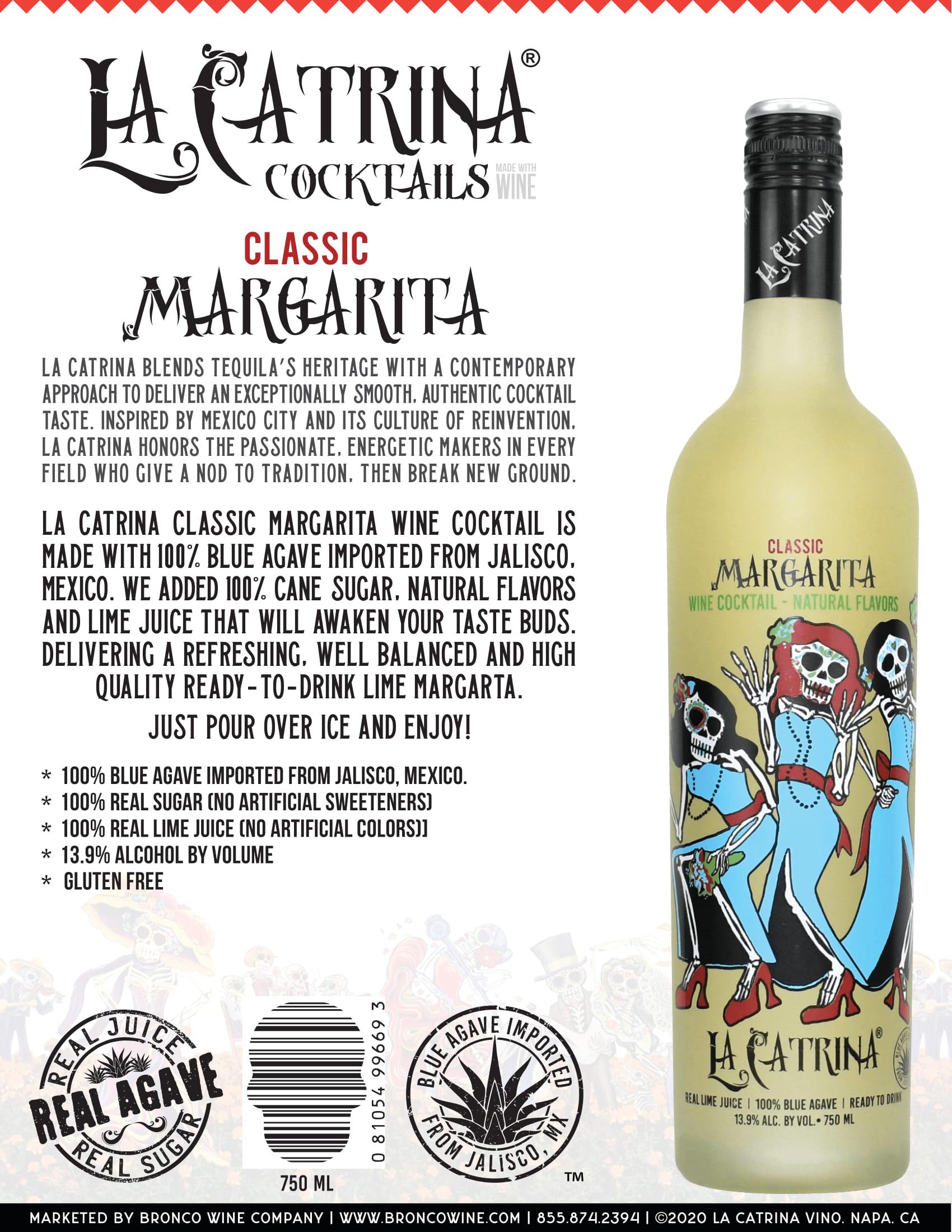 La Catrina Cocktails Classic Margarita Tech Sheet