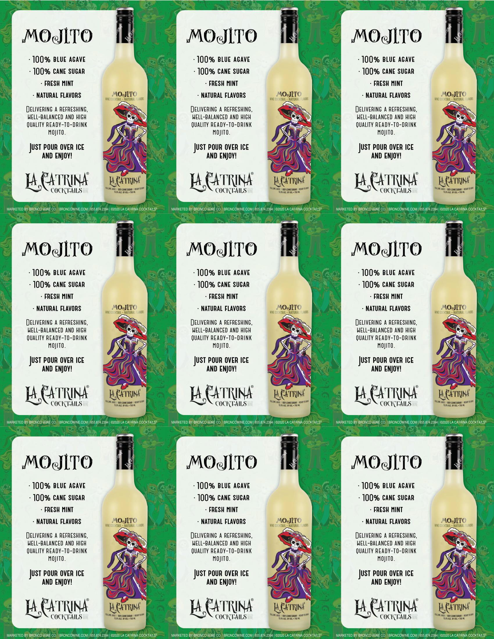 La Catrina Cocktails Mojito Shelf Talkers
