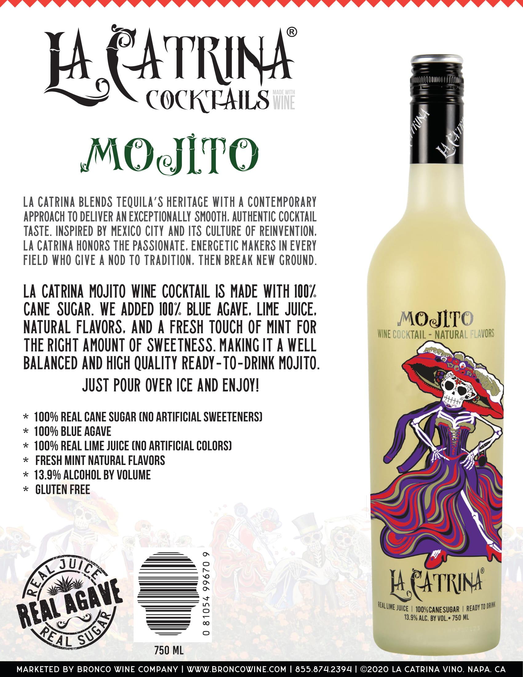La Catrina Cocktails Mojito Tech Sheet