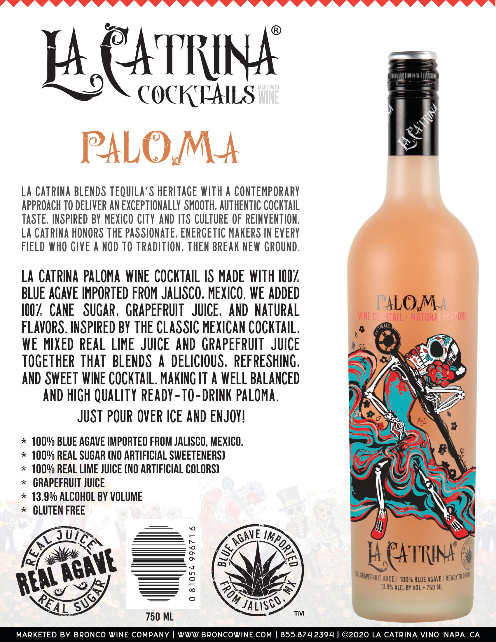 La Catrina Cocktails Paloma Tech Sheet