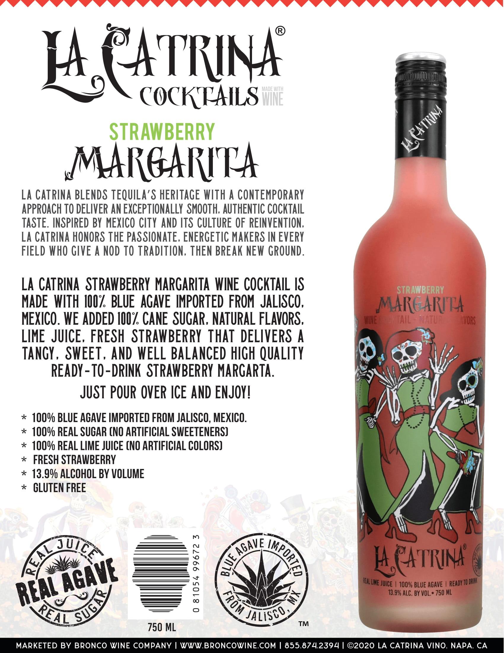 La Catrina Cocktails Strawberry Margarita Tech Sheet