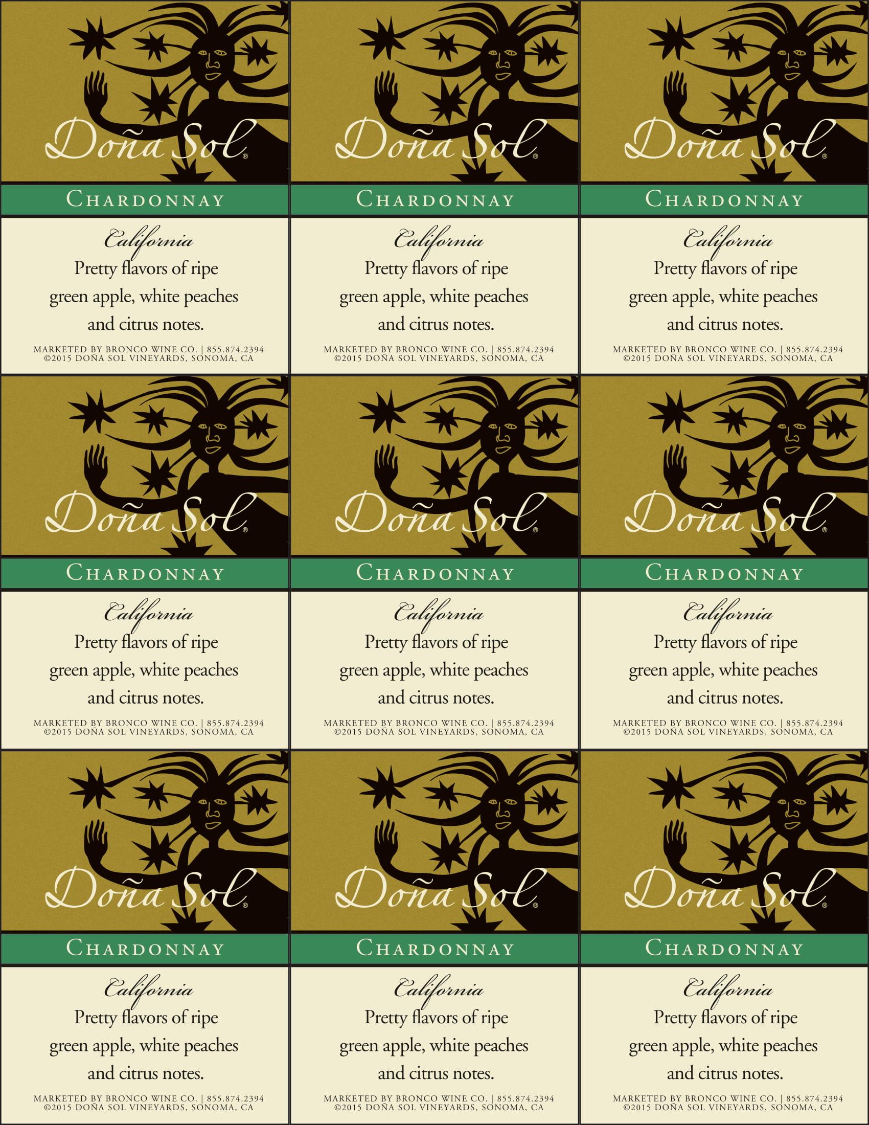 Dona Sol Chardonnay Shelf Talkers