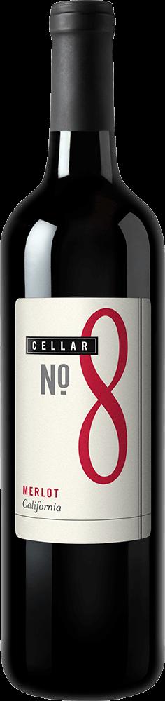 Cellar #8 Merlot Bottleshot