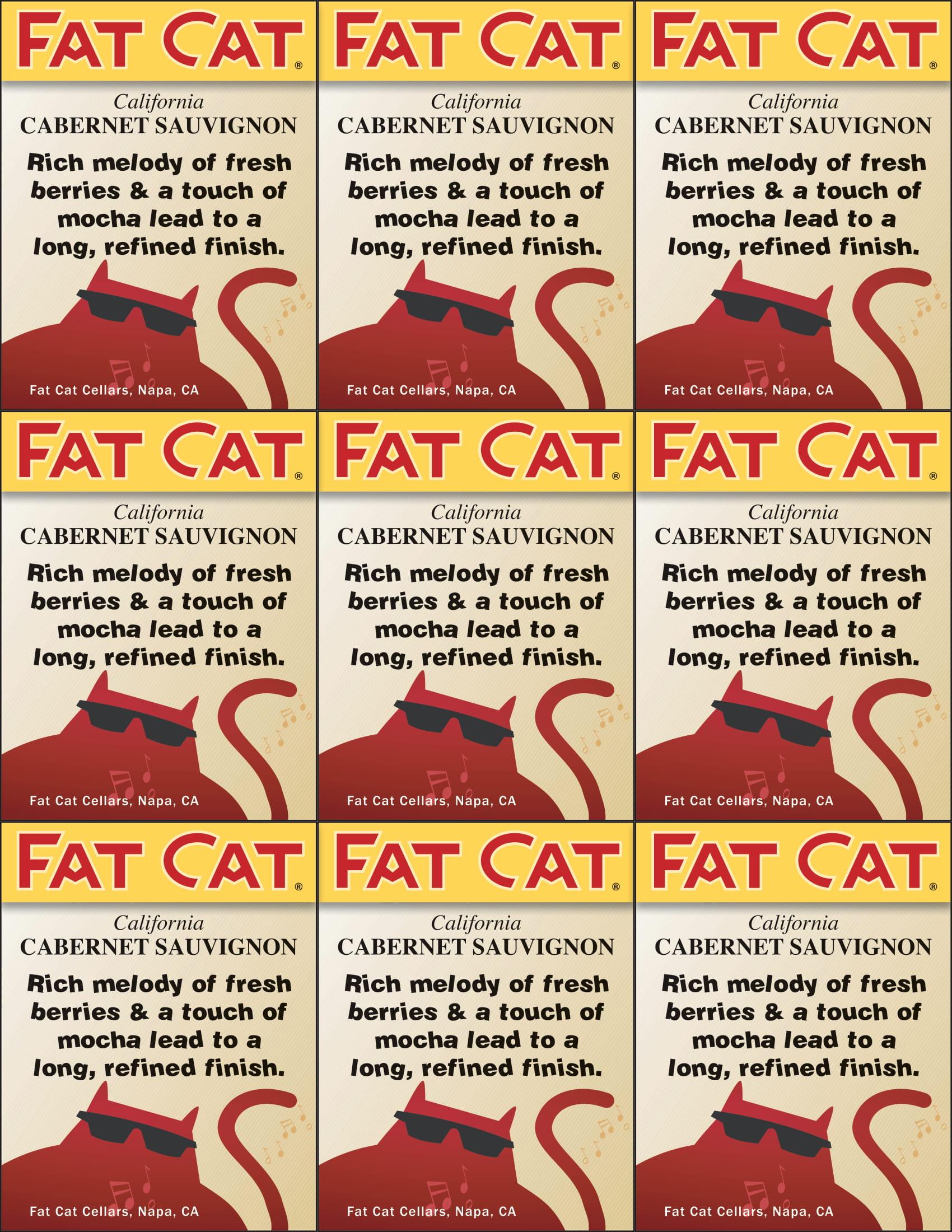 Fat Cat Cabernet Sauvignon Shelf Talkers