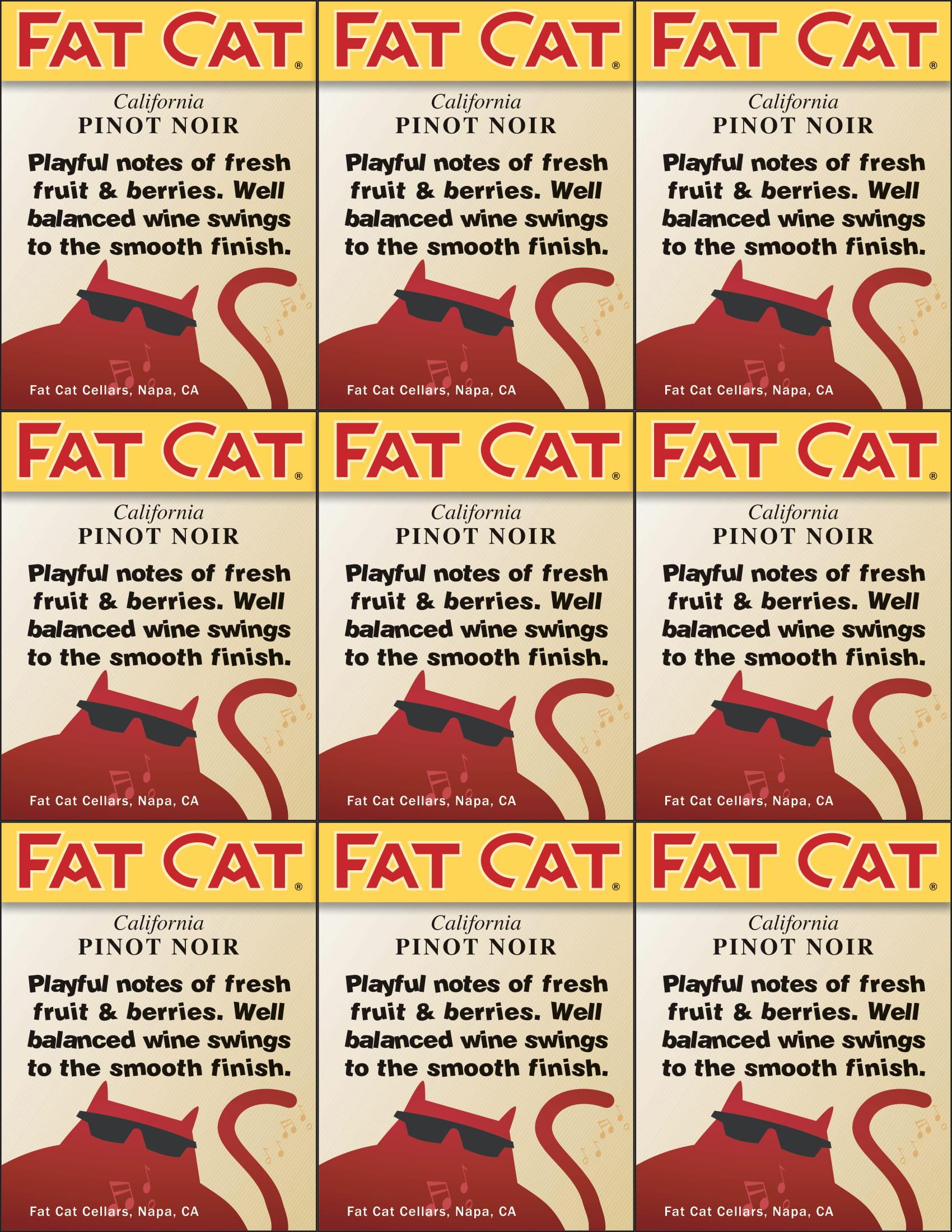 Fat Cat Pinot Noir Shelf Talkers