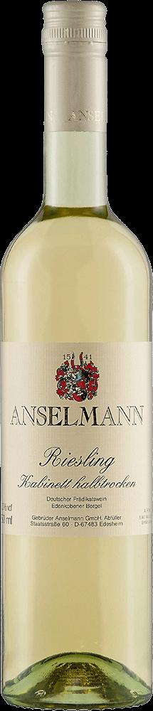 Anselmann Riesling Kabinett Halbtrocken Bottleshot