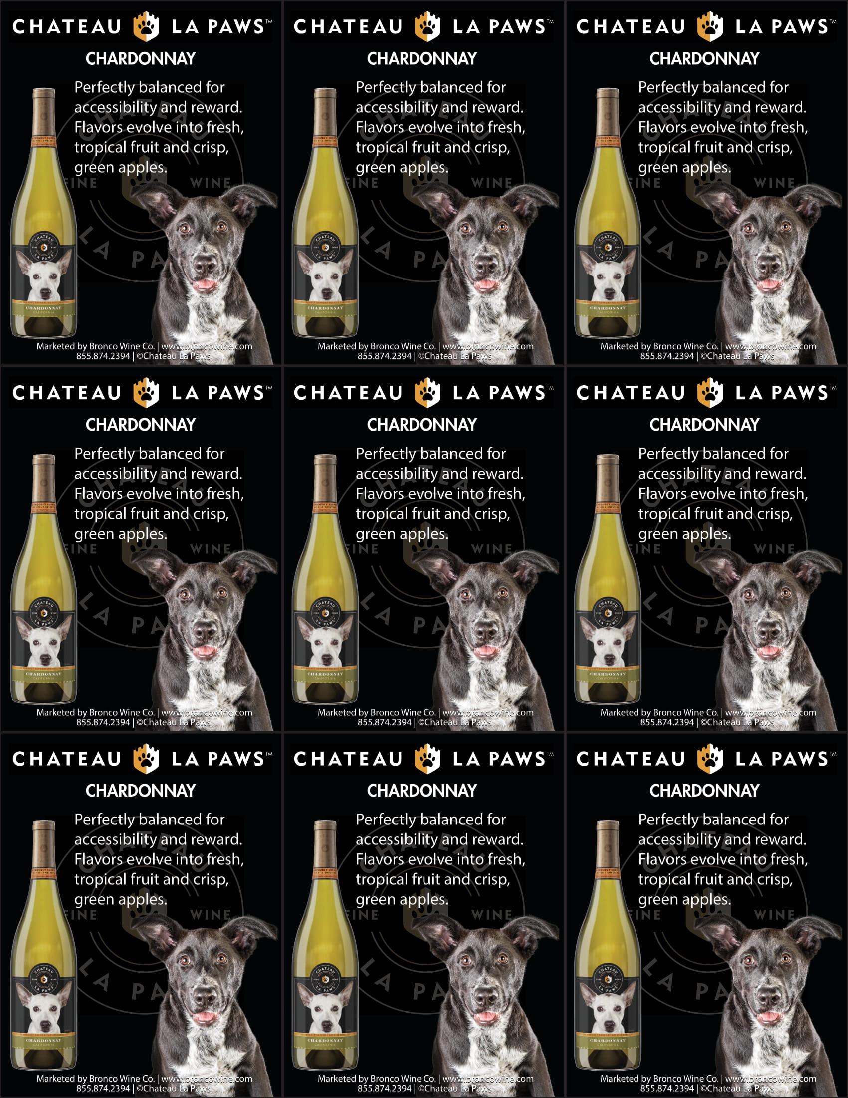 Chateau La Paws Chardonnay Shelf Talkers