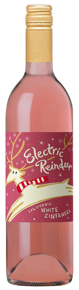 Electric Reindeer White Zinfandel Bottle Shot
