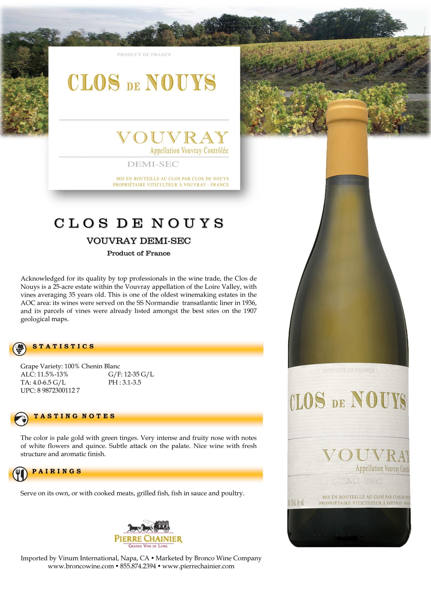 Clos de Nouys Demi-Sec Tech Sheet