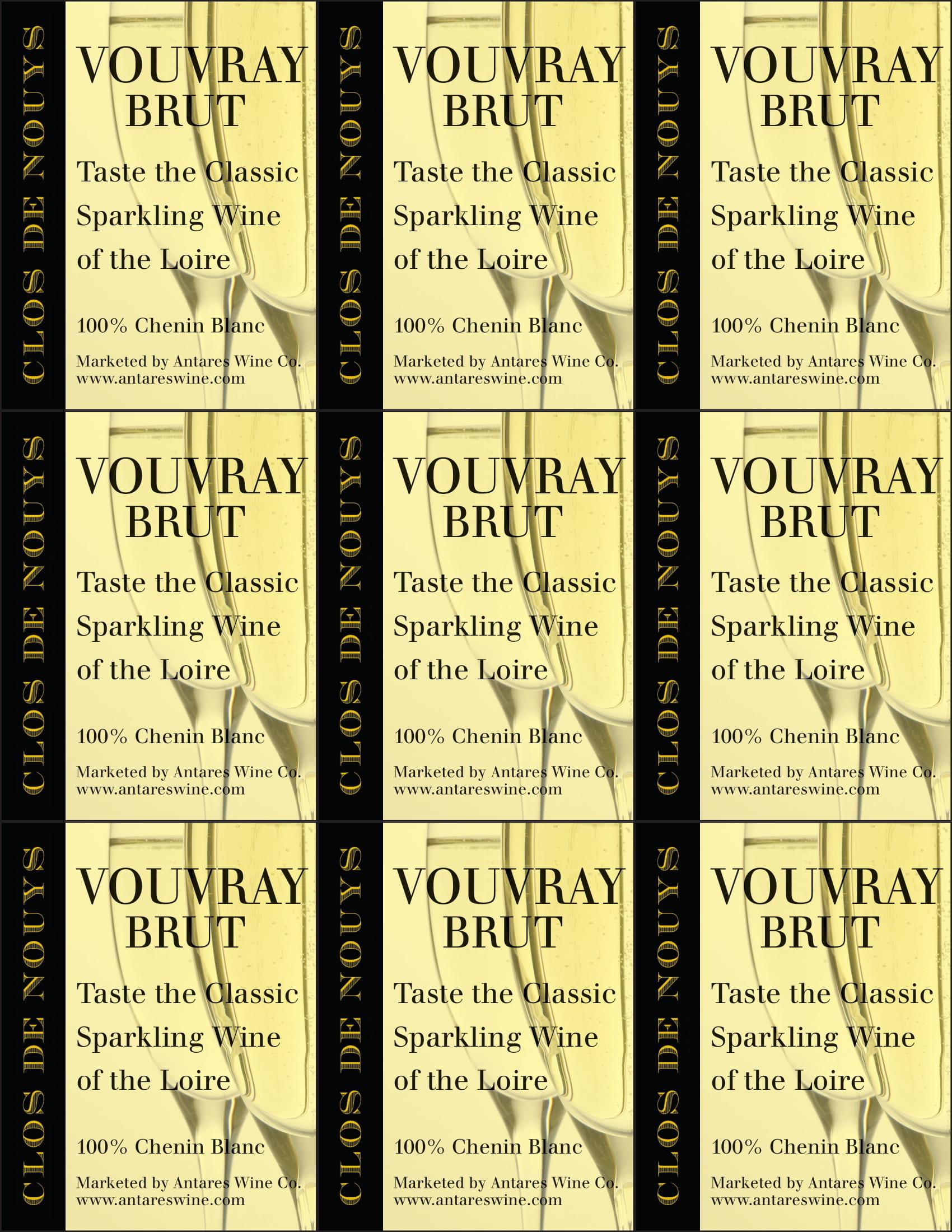 Clos de Nouys Vouvray Brut Shelf Talker