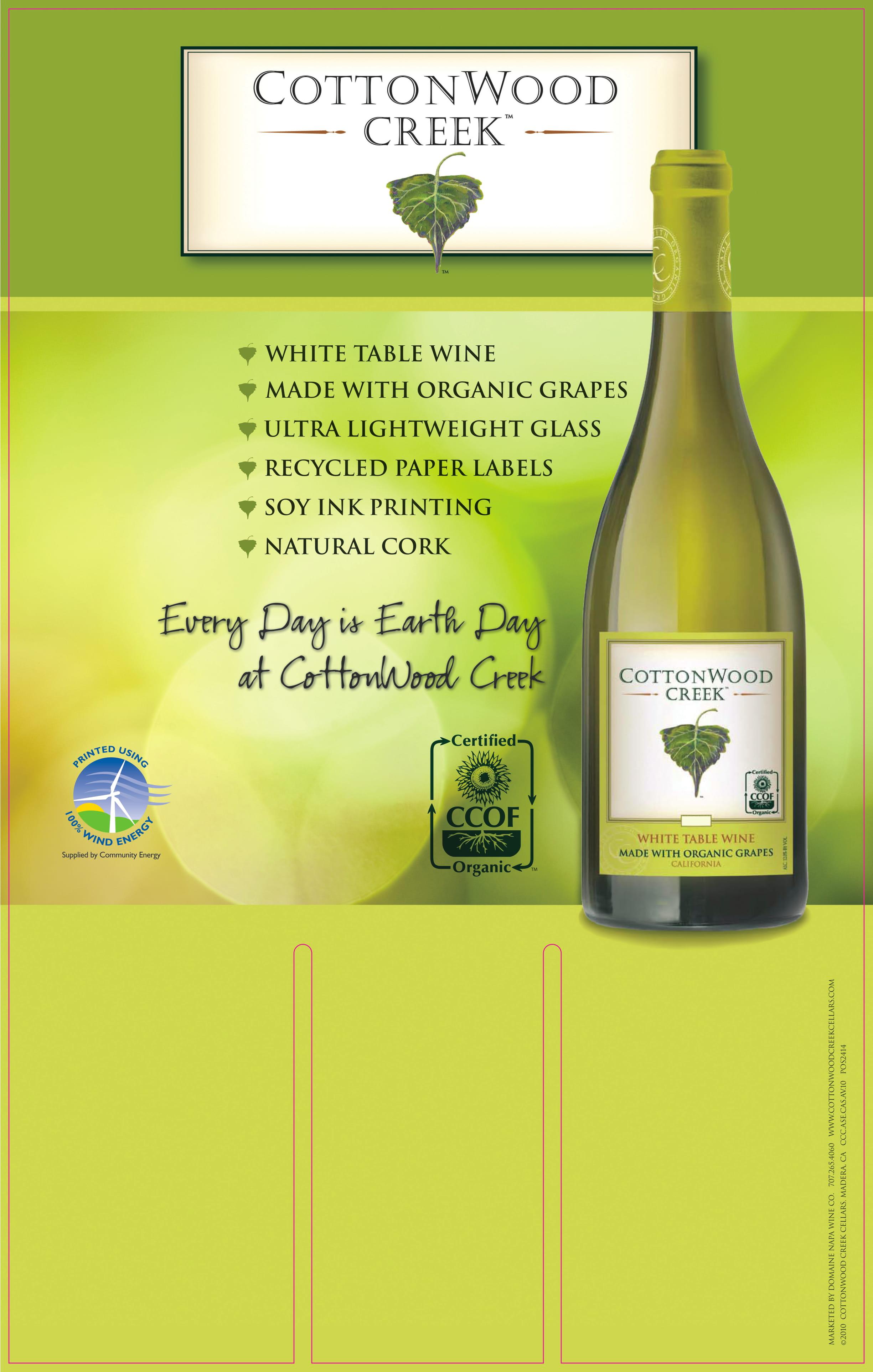 Cottonwood Creek White Wine Case Card