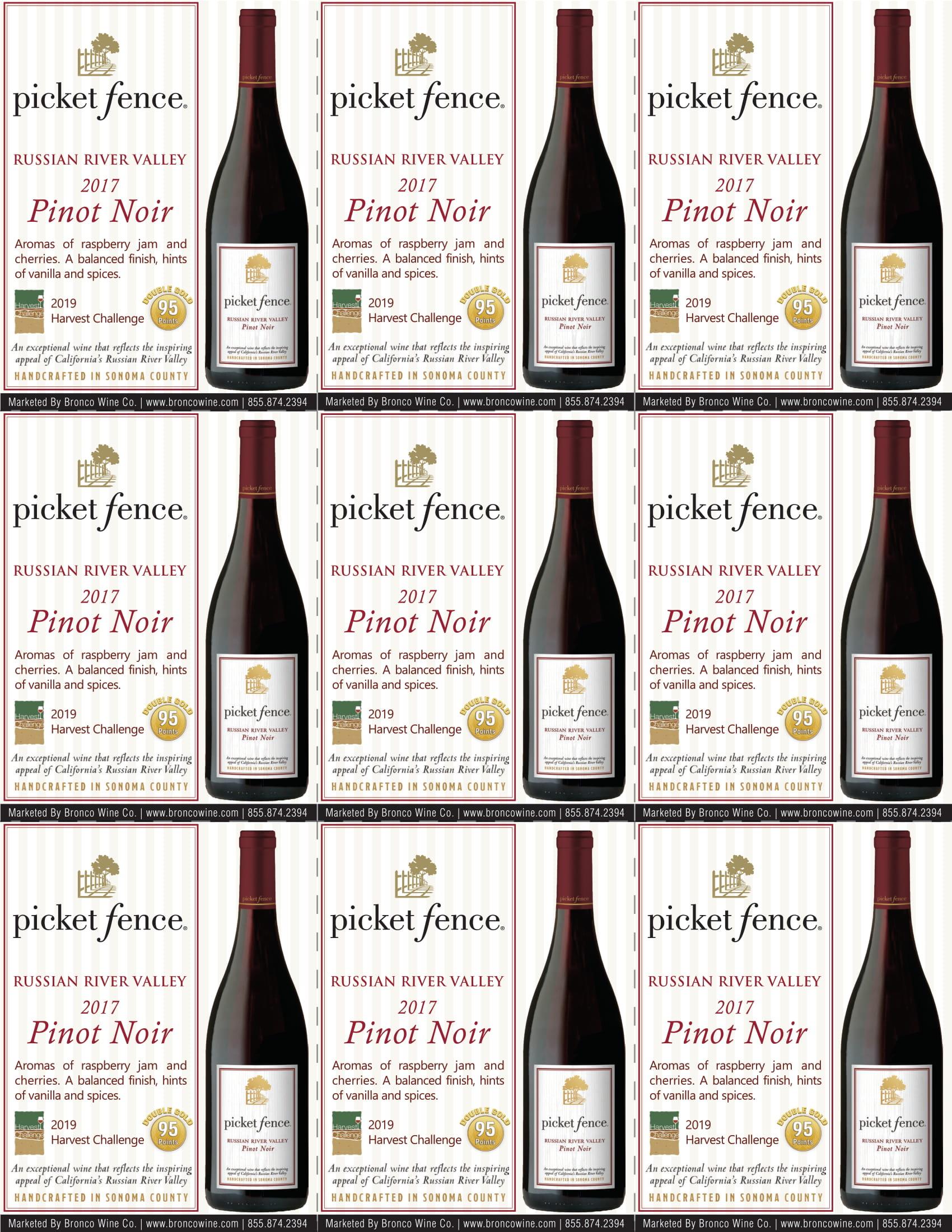 Picket Fence Pinot Noir Shelf Talkers