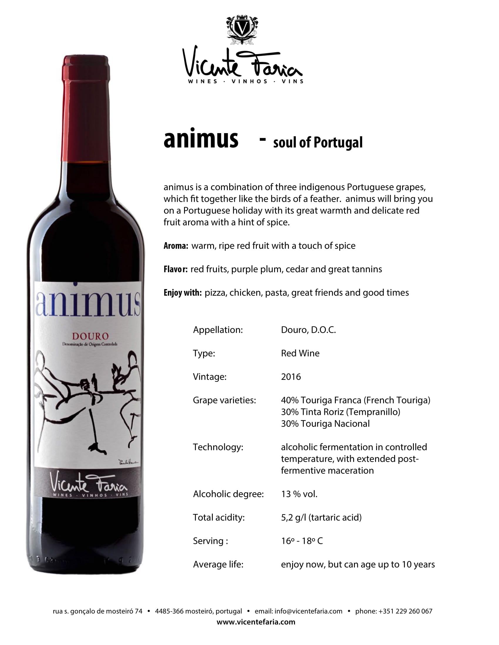 Animus Douro Tech Sheet