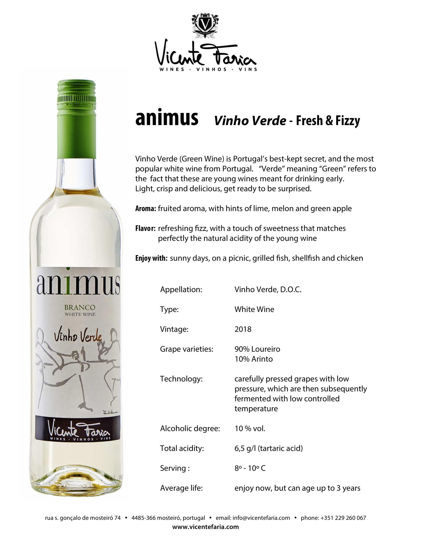 Animus Vinho Verde Tech Sheet