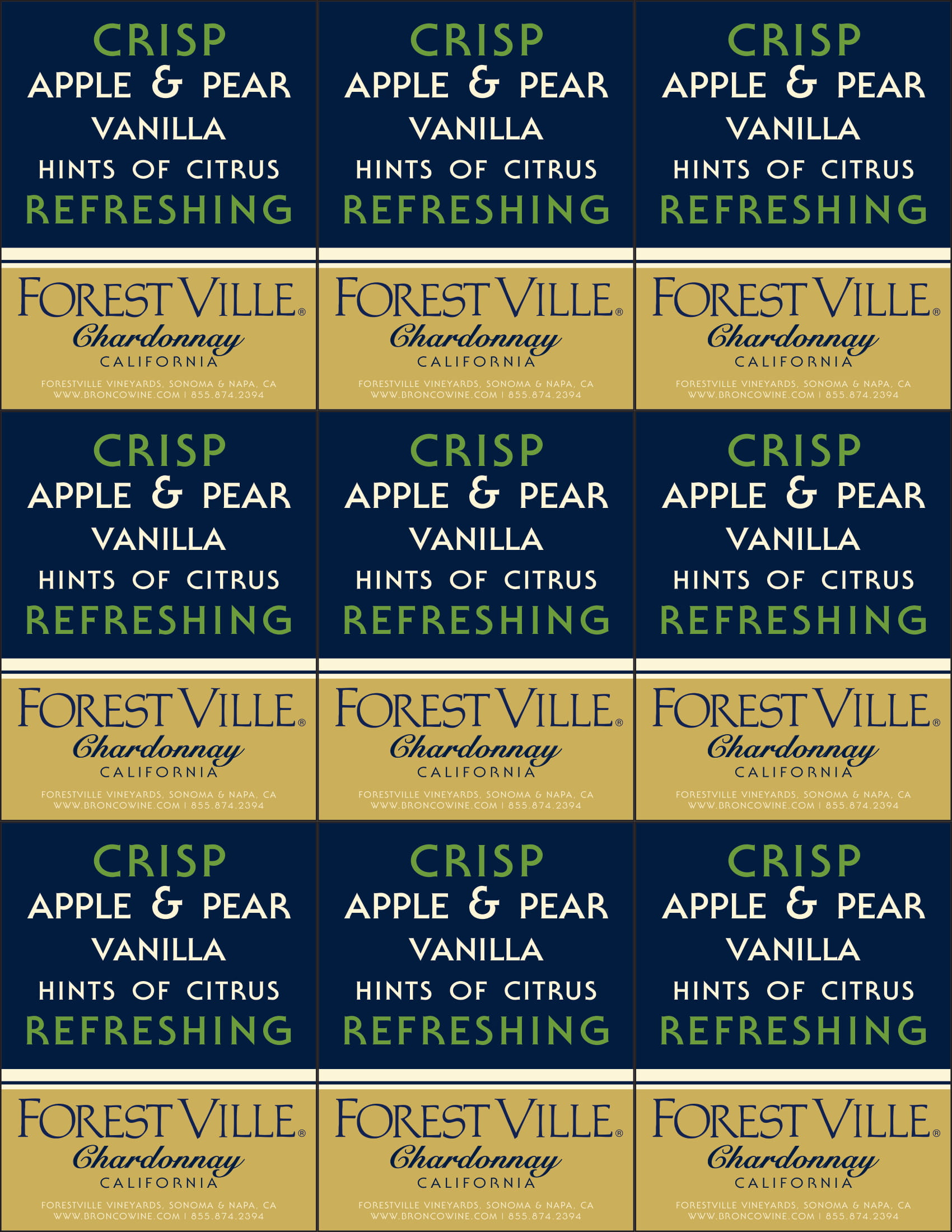 Forest Ville Chardonnay Shelf Talker