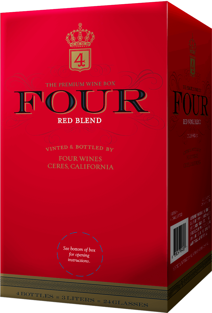 Four Wines Red Blend Box