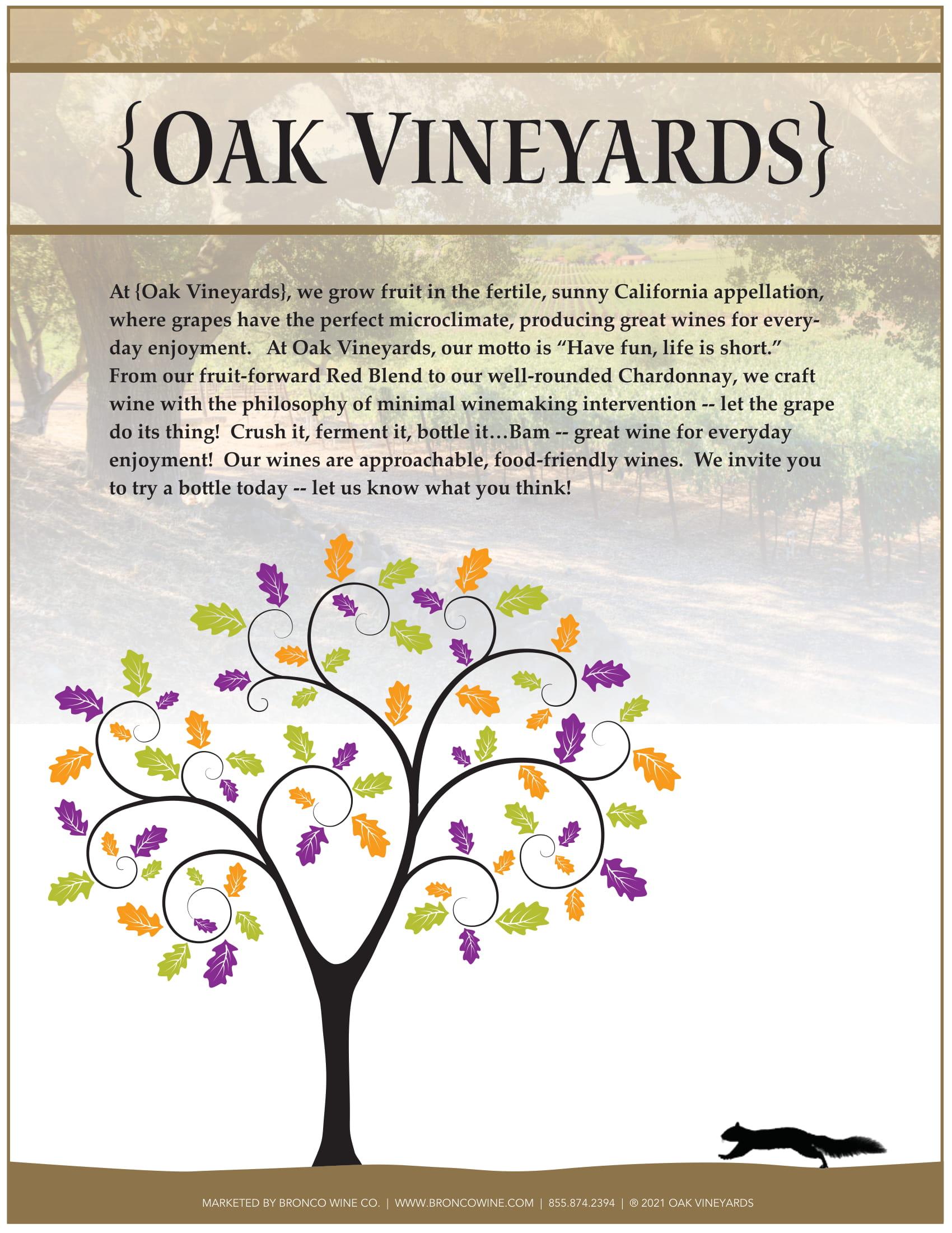 Oak Vineyards Family Sell Sheet