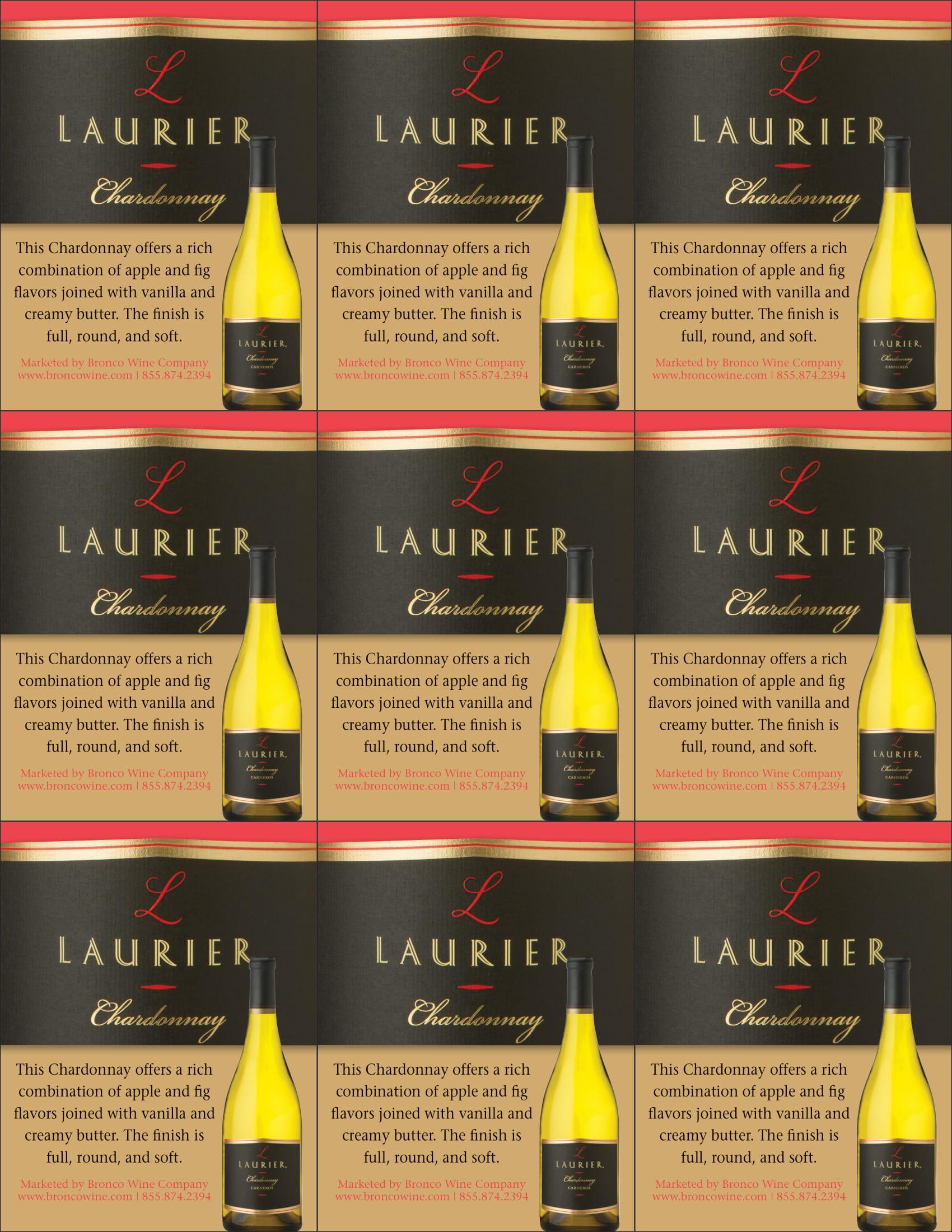 Laurier Chardonnay Shelf Talker