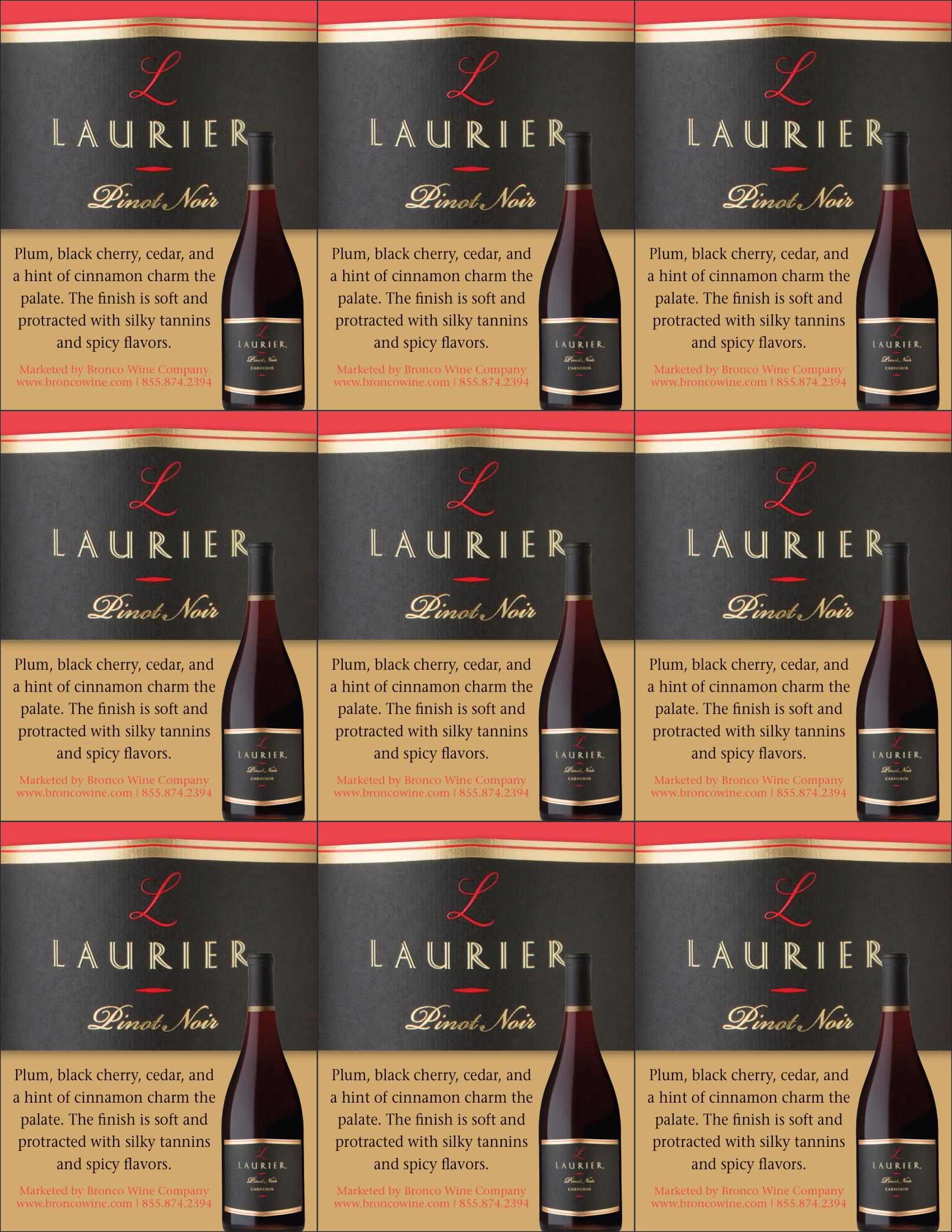 Laurier Pinot Noir Shelf Talker