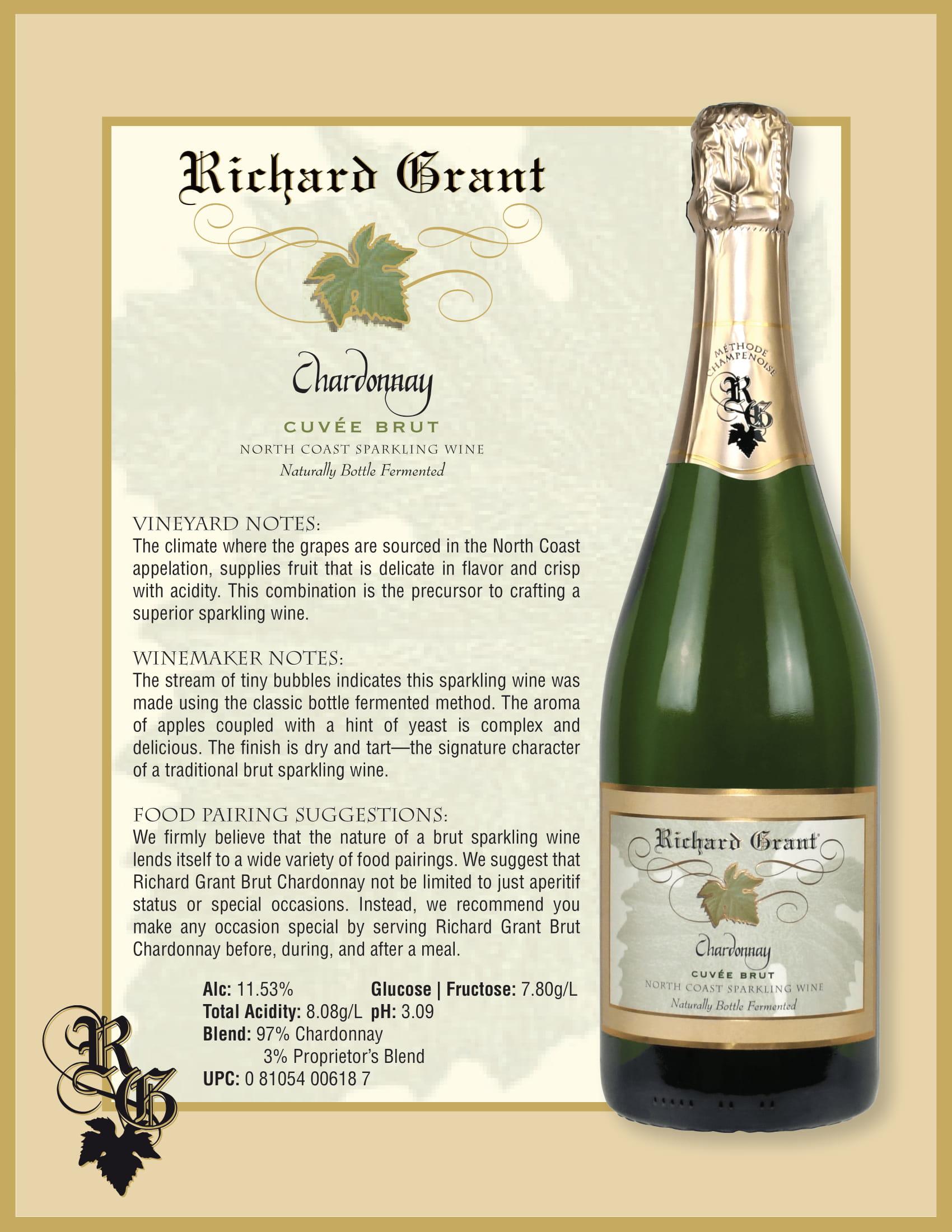 Richard Grant Chardonnay Cuvée Brut Tech Sheet