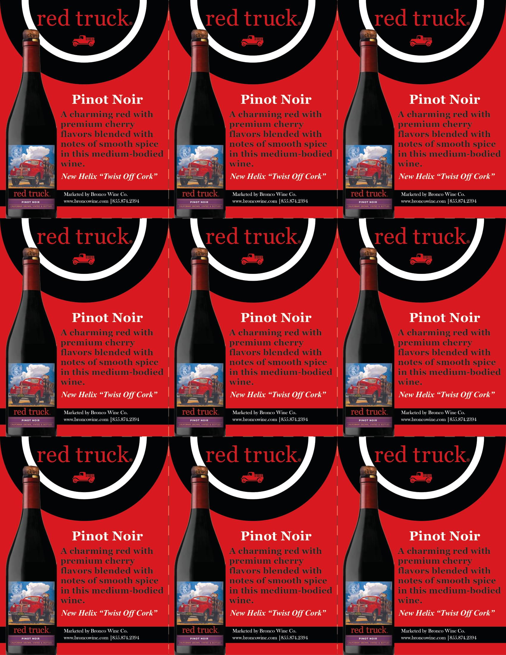 Red Truck Pinot Noir Shelf Talkers