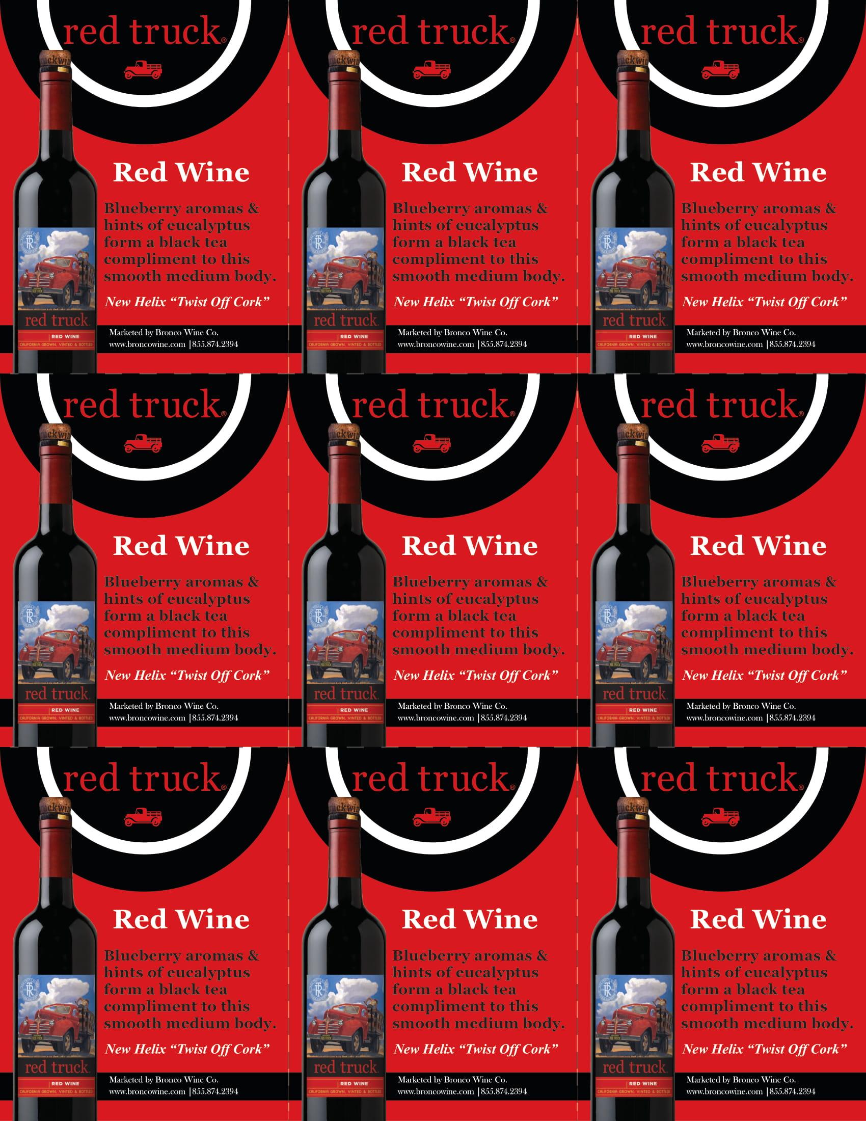Red Truck Red Wine Shelf Talkers