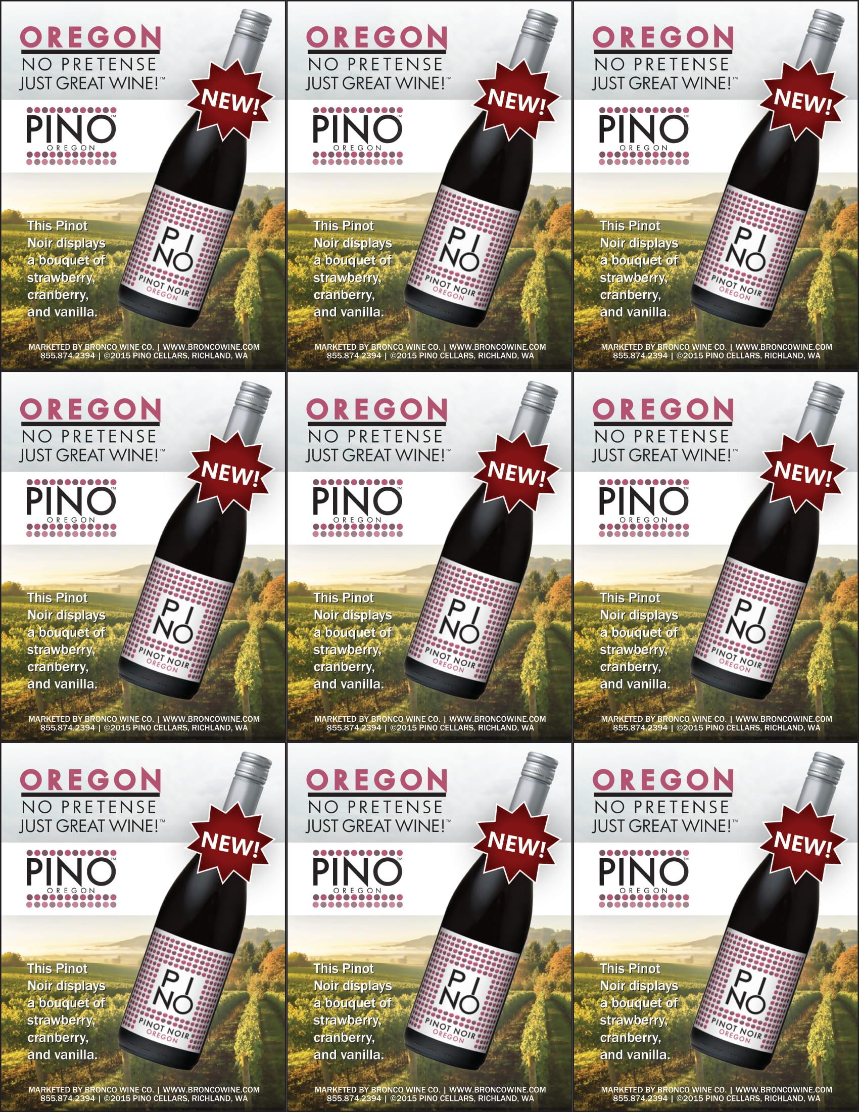 PINO Cellars Pinot Noir Shelf Talker