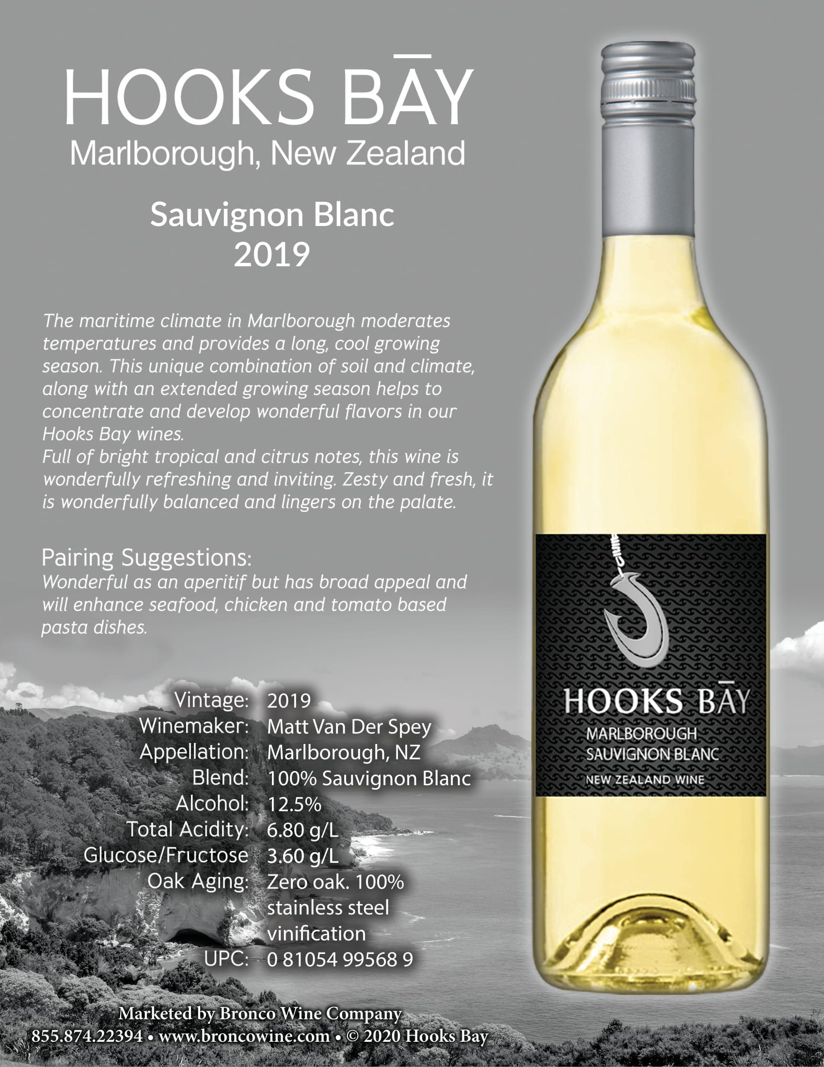 Hooks Bay Sauvignon Blanc Tech Sheet