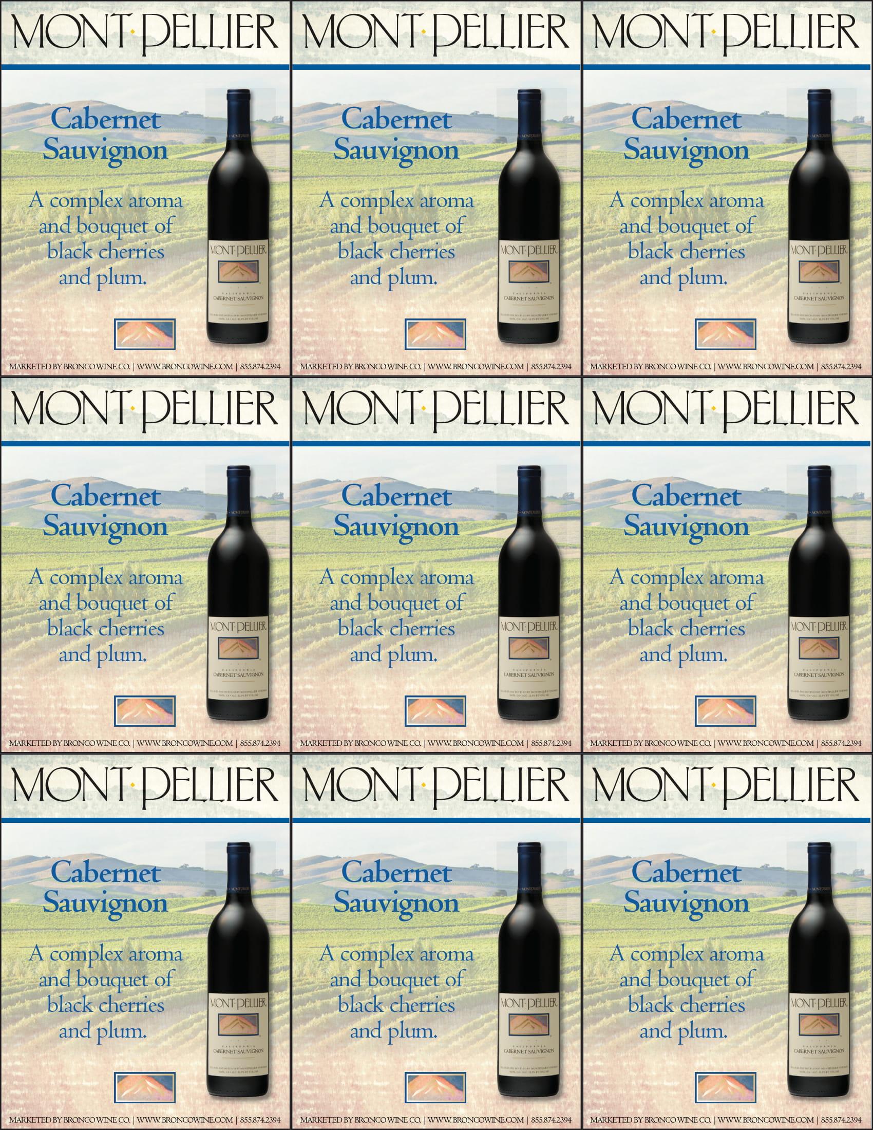 Montpellier Cabernet Sauvignon Shelf Talker