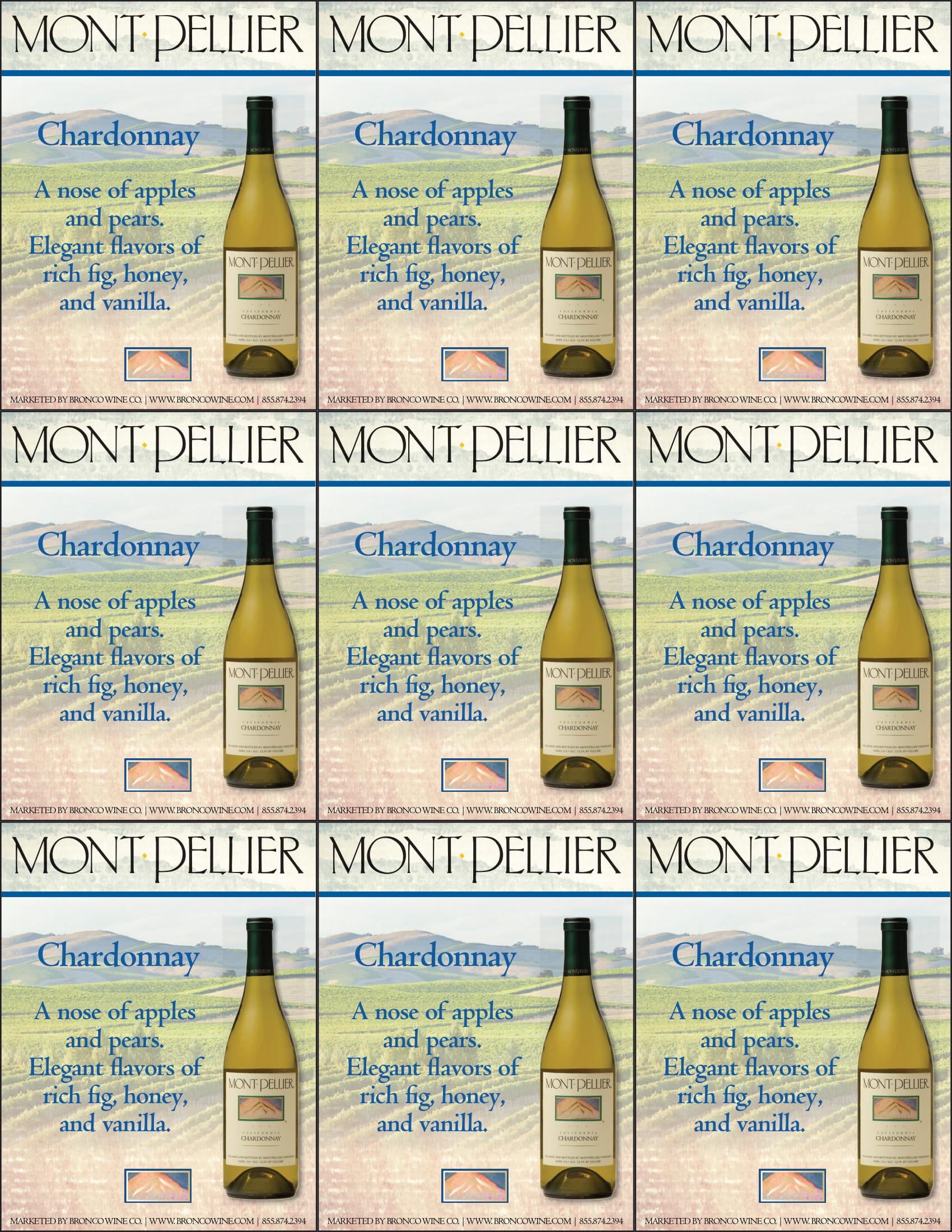 Montpellier Chardonnay Shelf Talker