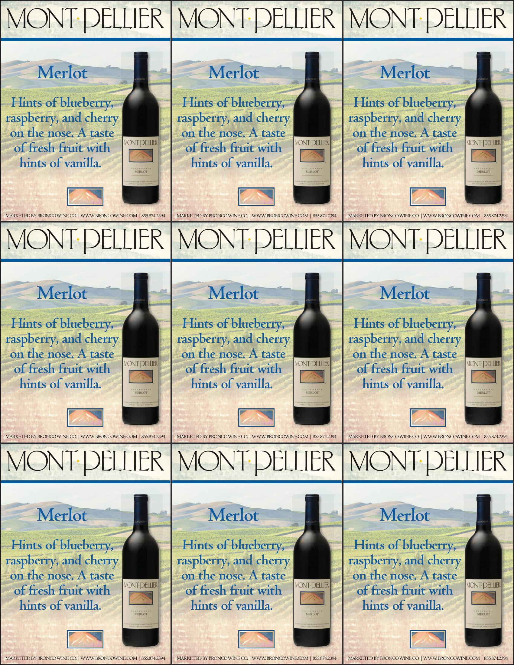 Montpellier Merlot Shelf Talker