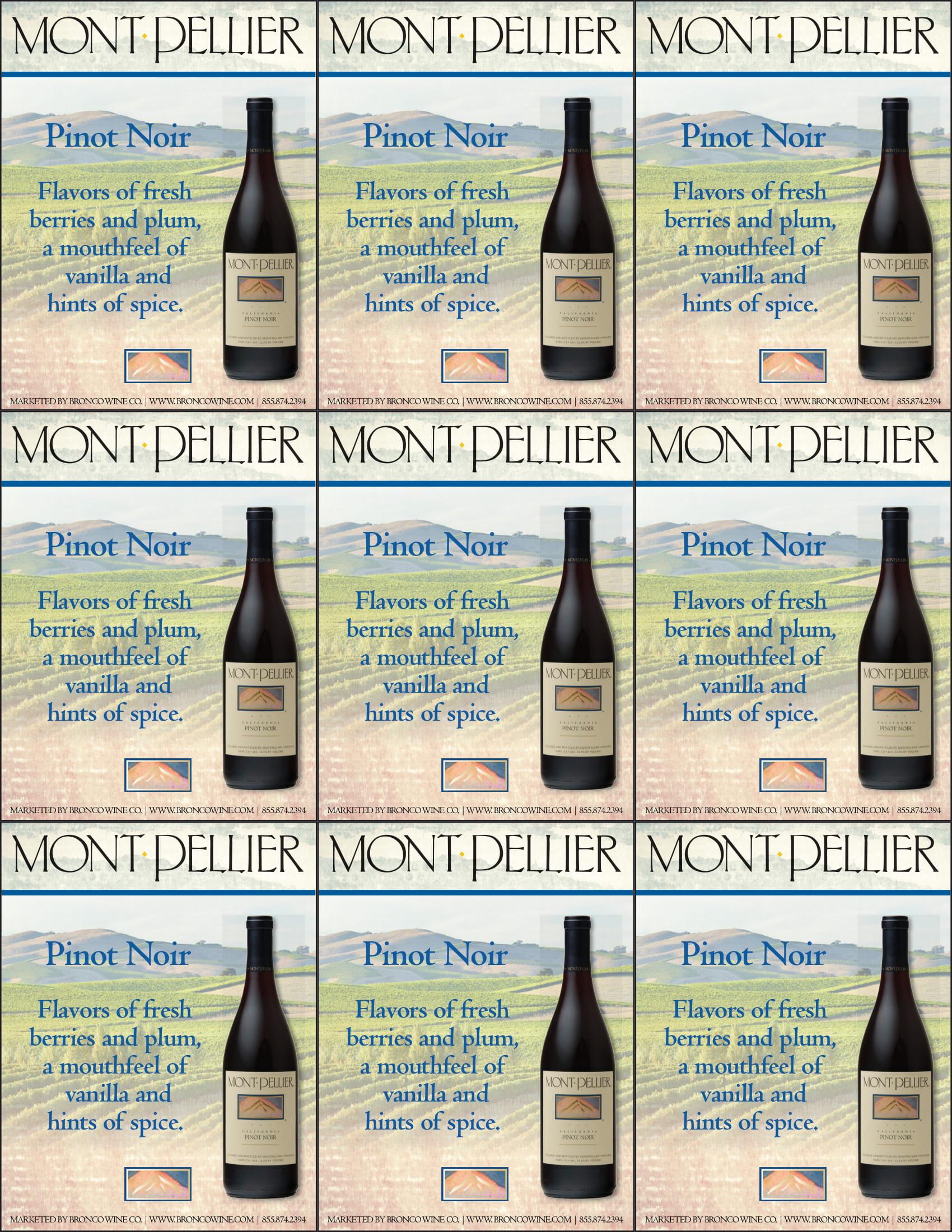 Montpellier Pinot Noir Shelf Talker