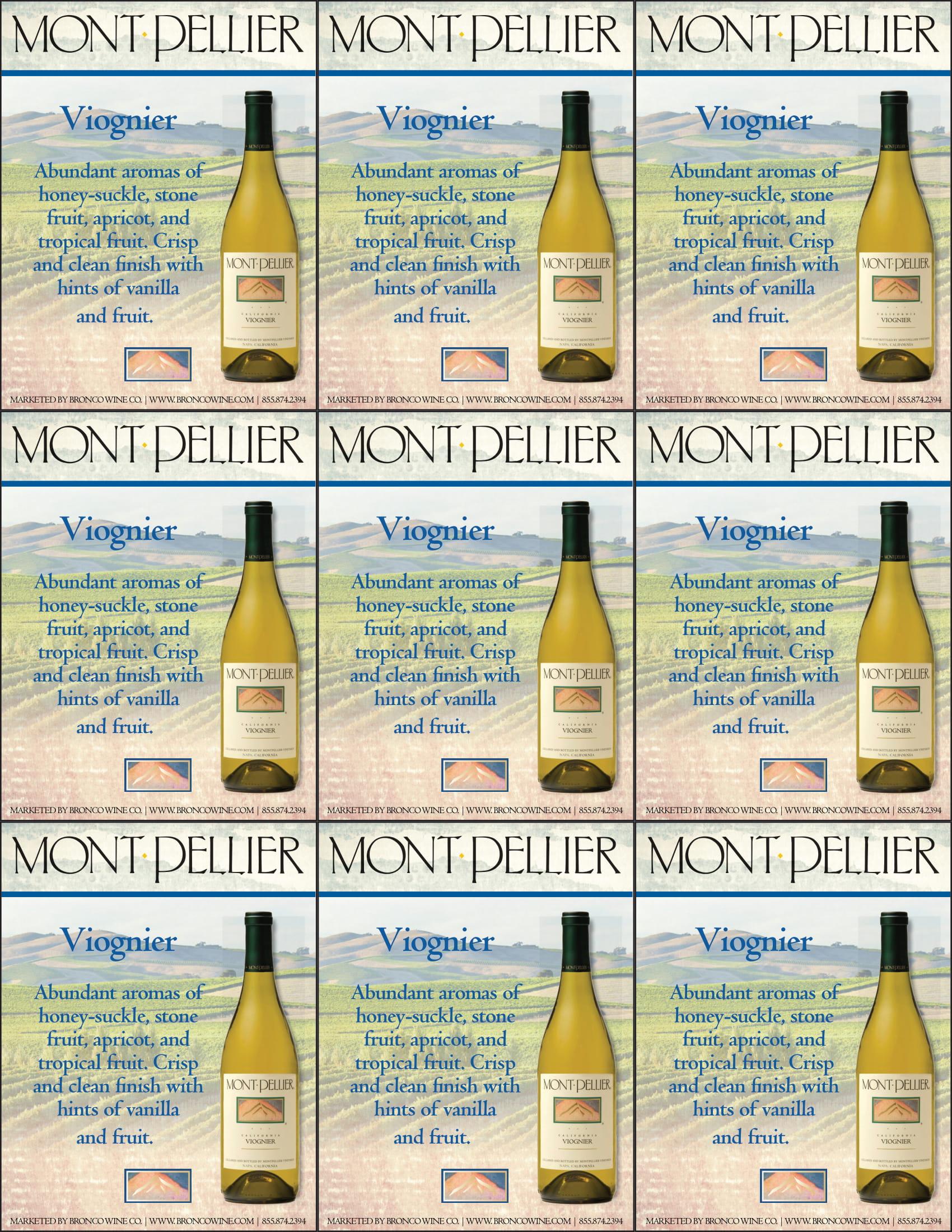 Montpellier Viognier Shelf Talker