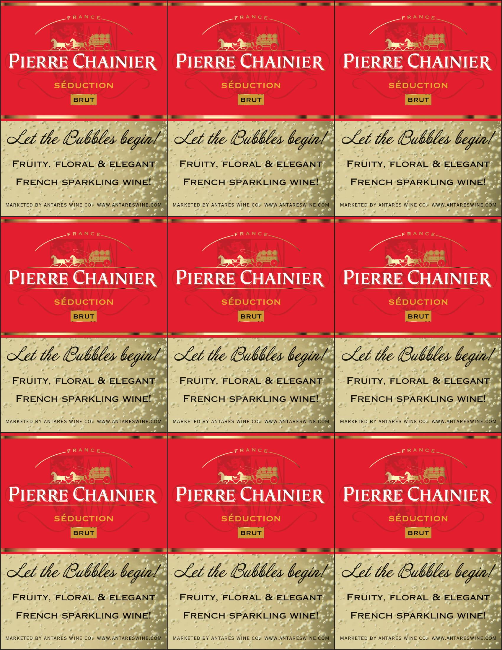 Pierre Chainier Sparkling Brut Shelf Talker