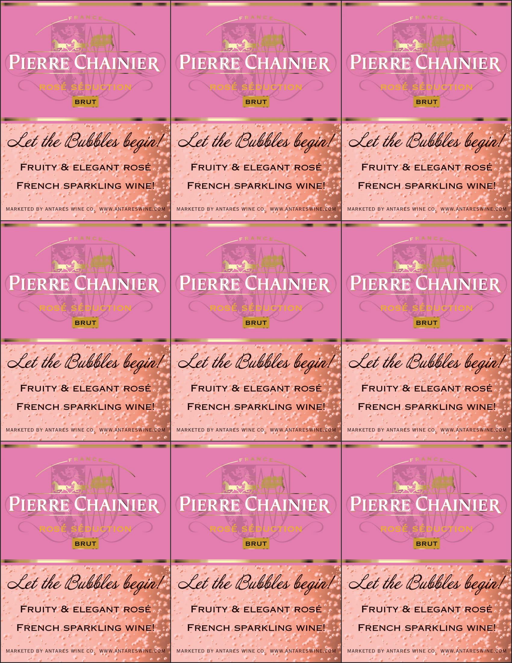 Pierre Chainier Sparkling Rose Shelf Talker