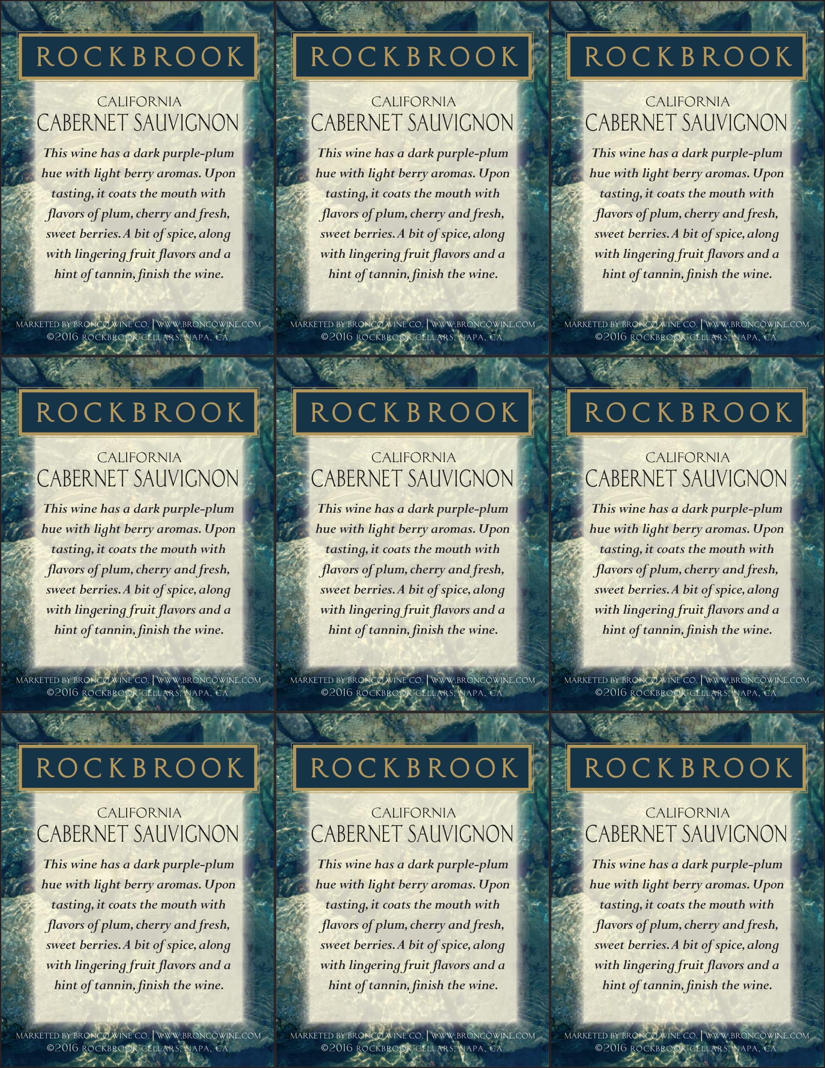 Rockbrook Cellars Cabernet Sauvignon Shelf Talkers