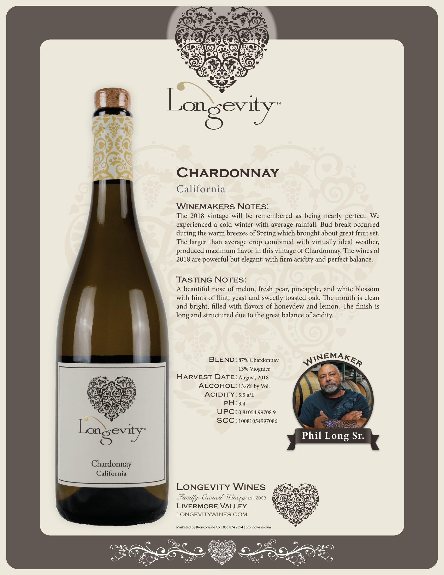 Longevity Chardonnay Tech Sheet