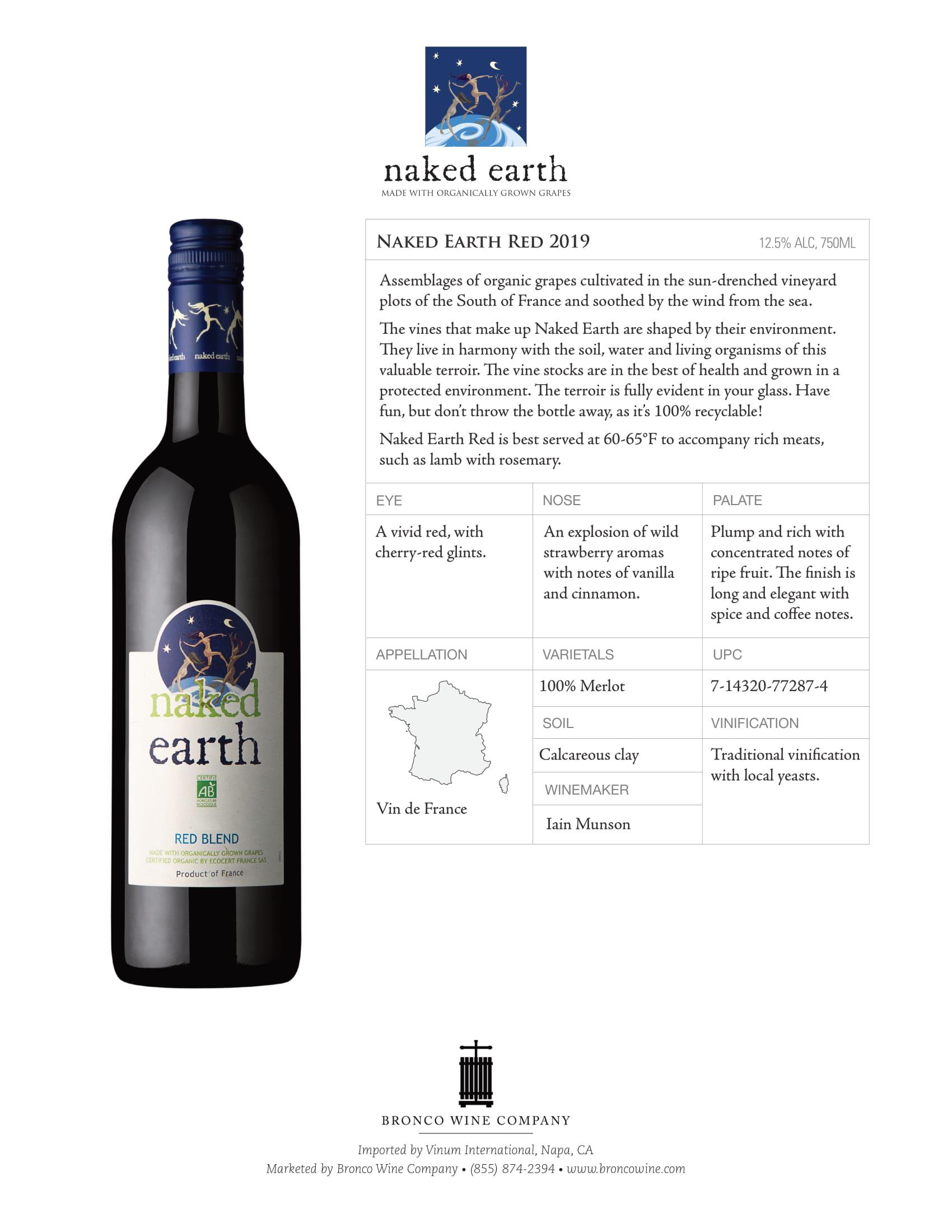 Naked Earth Red Blend Tech Sheet