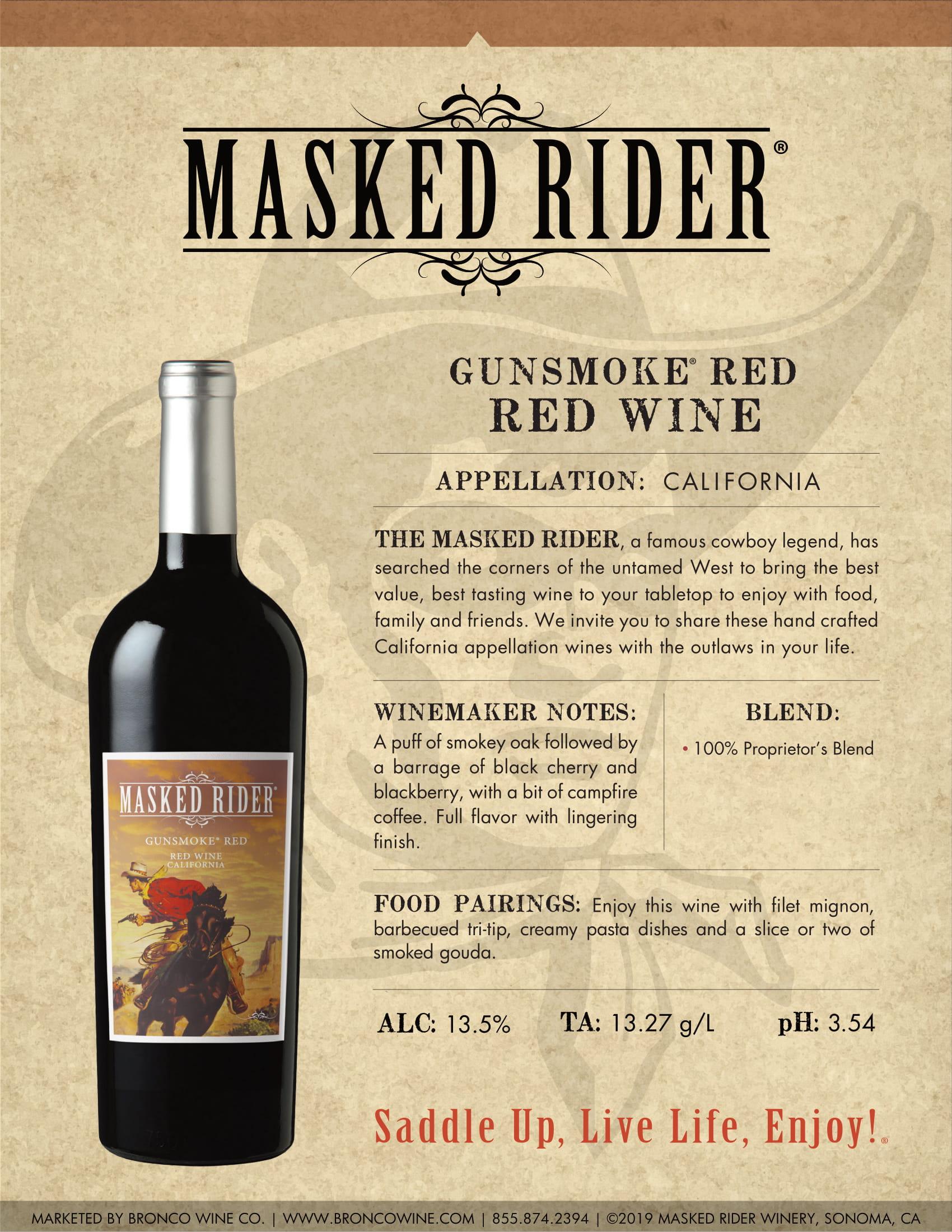 Masked Rider Gunsmoke Red Tech Sheet