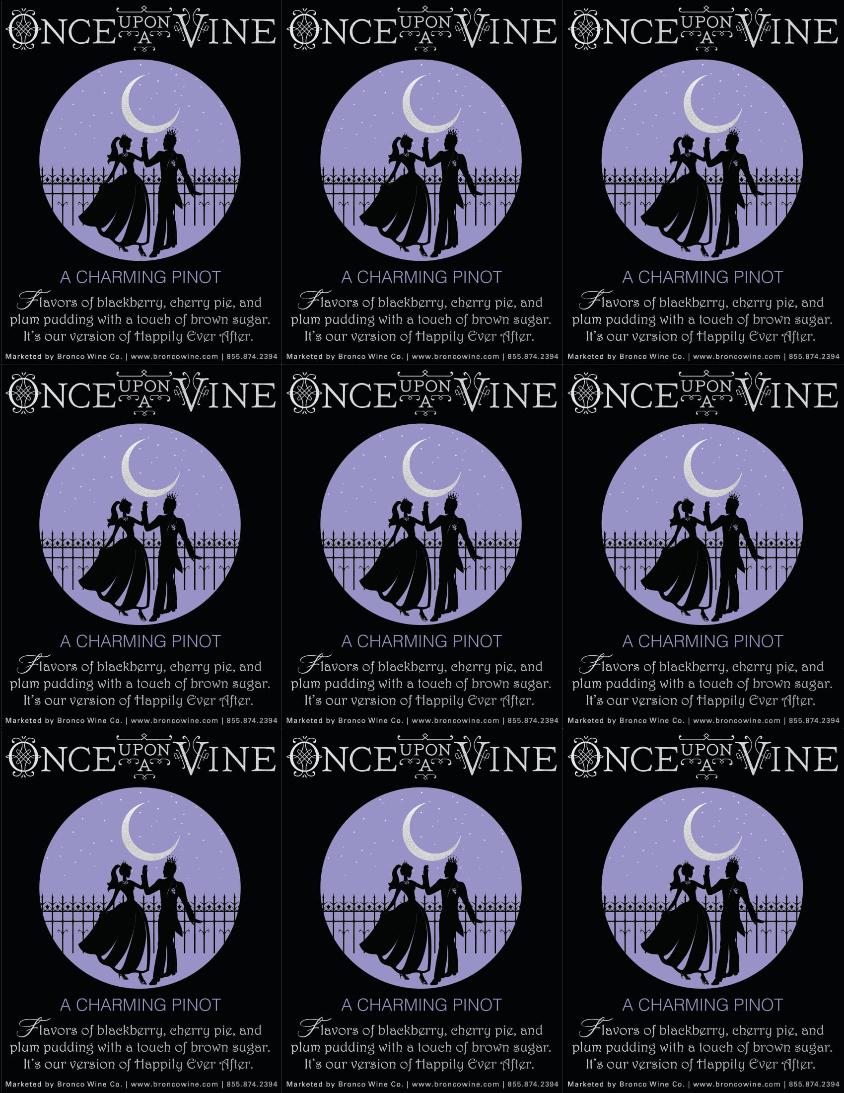 Once Upon A Vine A Charming Pinot Shelf Talker