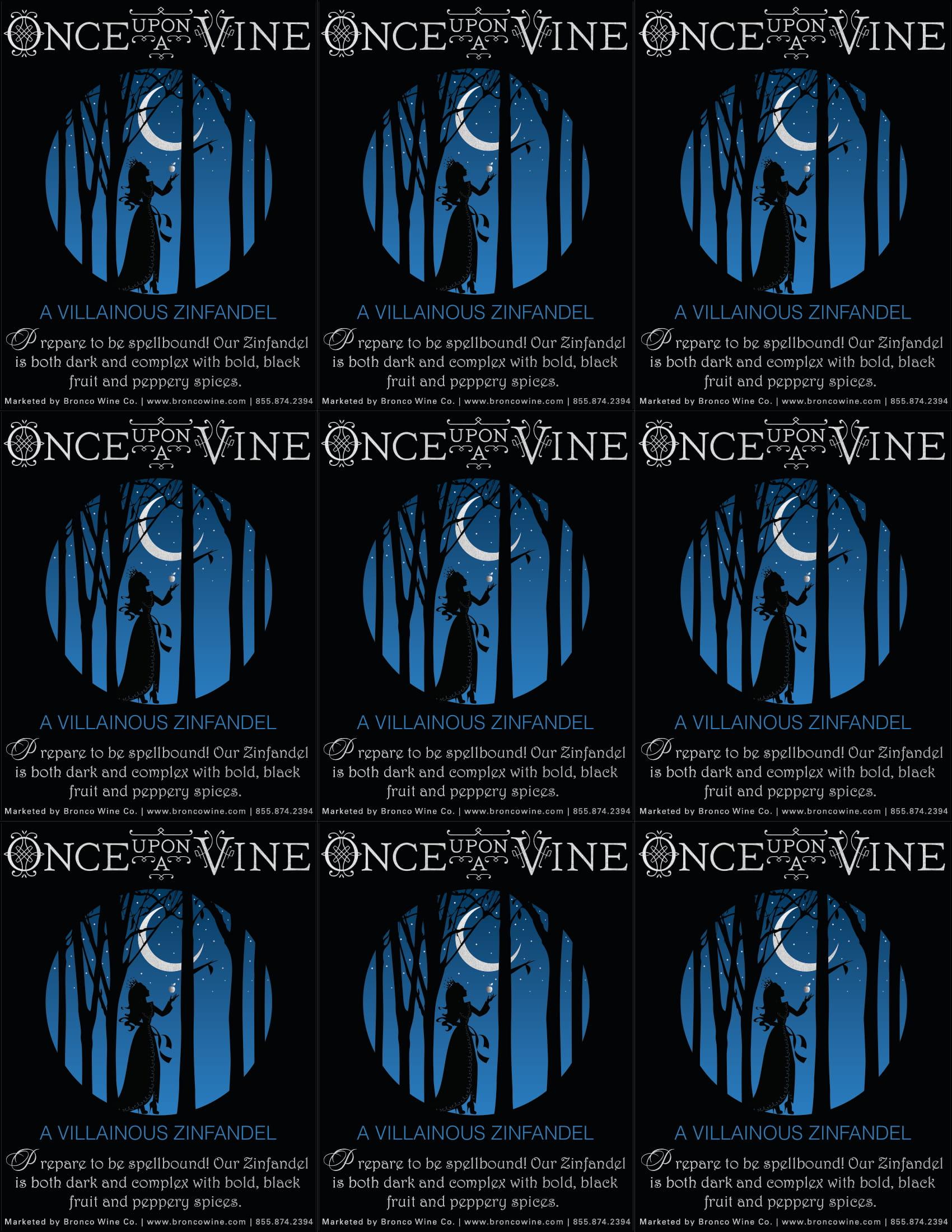 Once Upon A Vine A Villainous Zinfandel Shelf Talker