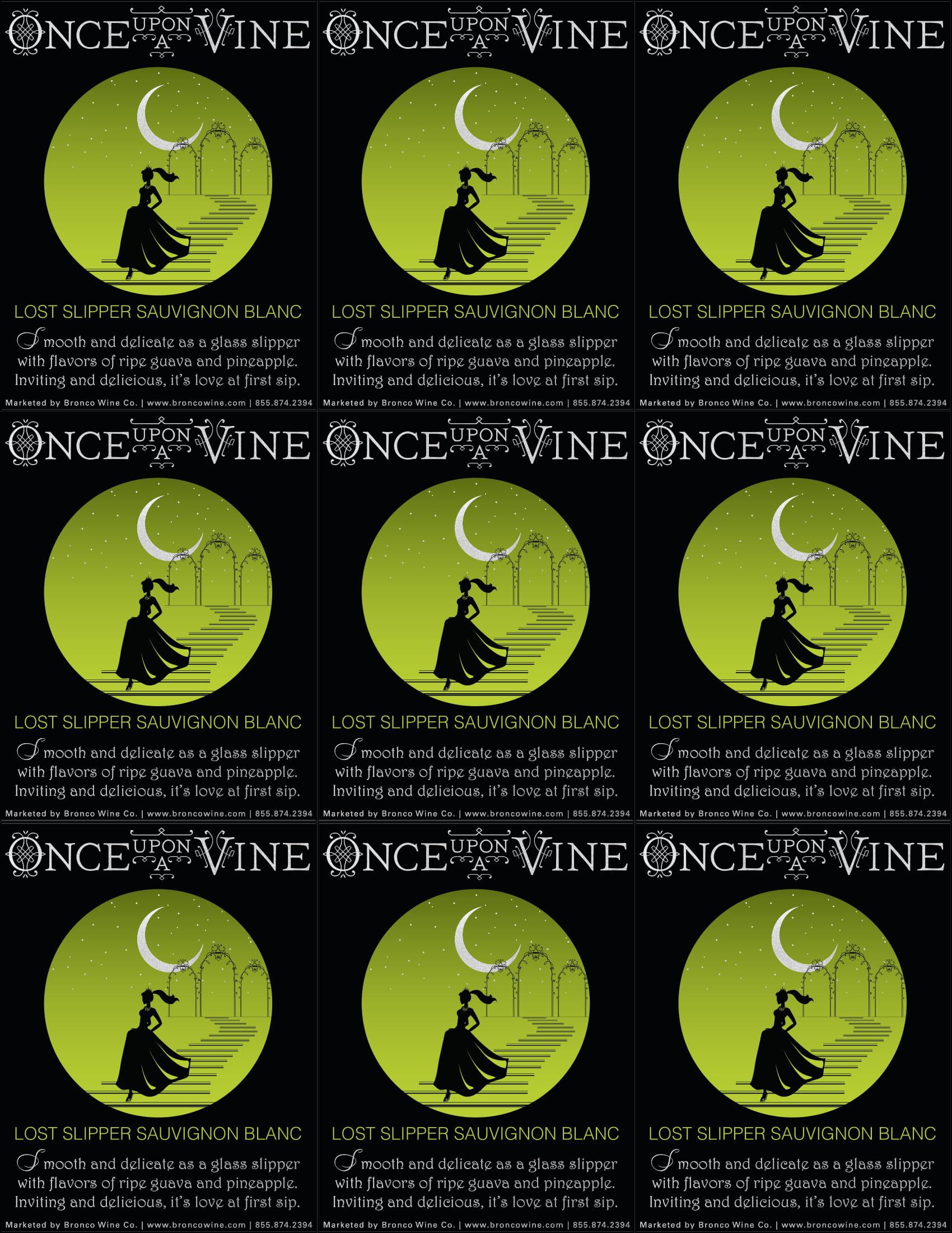 Once Upon A Vine Lost Slipper Sauvignon Blanc Shelf Talker